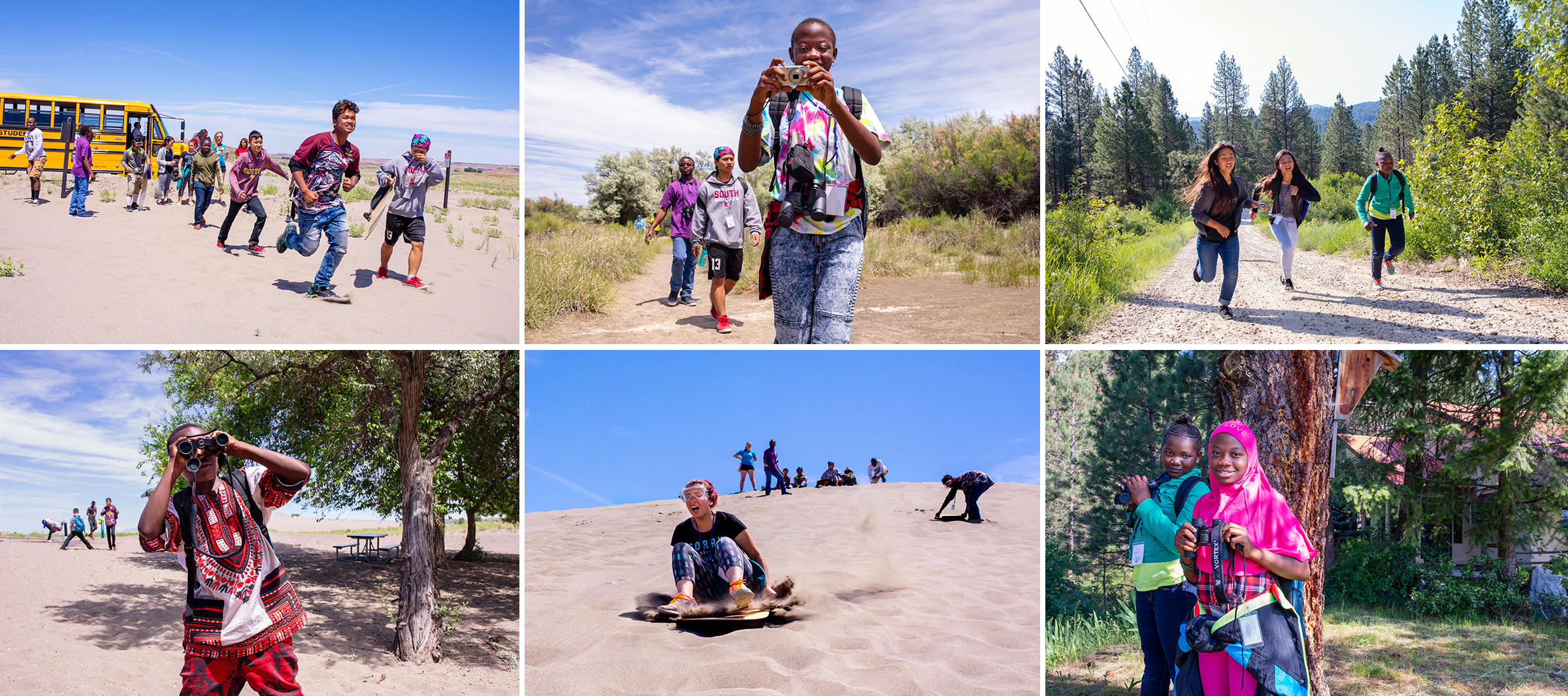 The New Roots campers came ready to explore and play in the diverse ecosystems within an hour of their home in Boise, Idaho. Photos: Mike Fernandez/Audubon