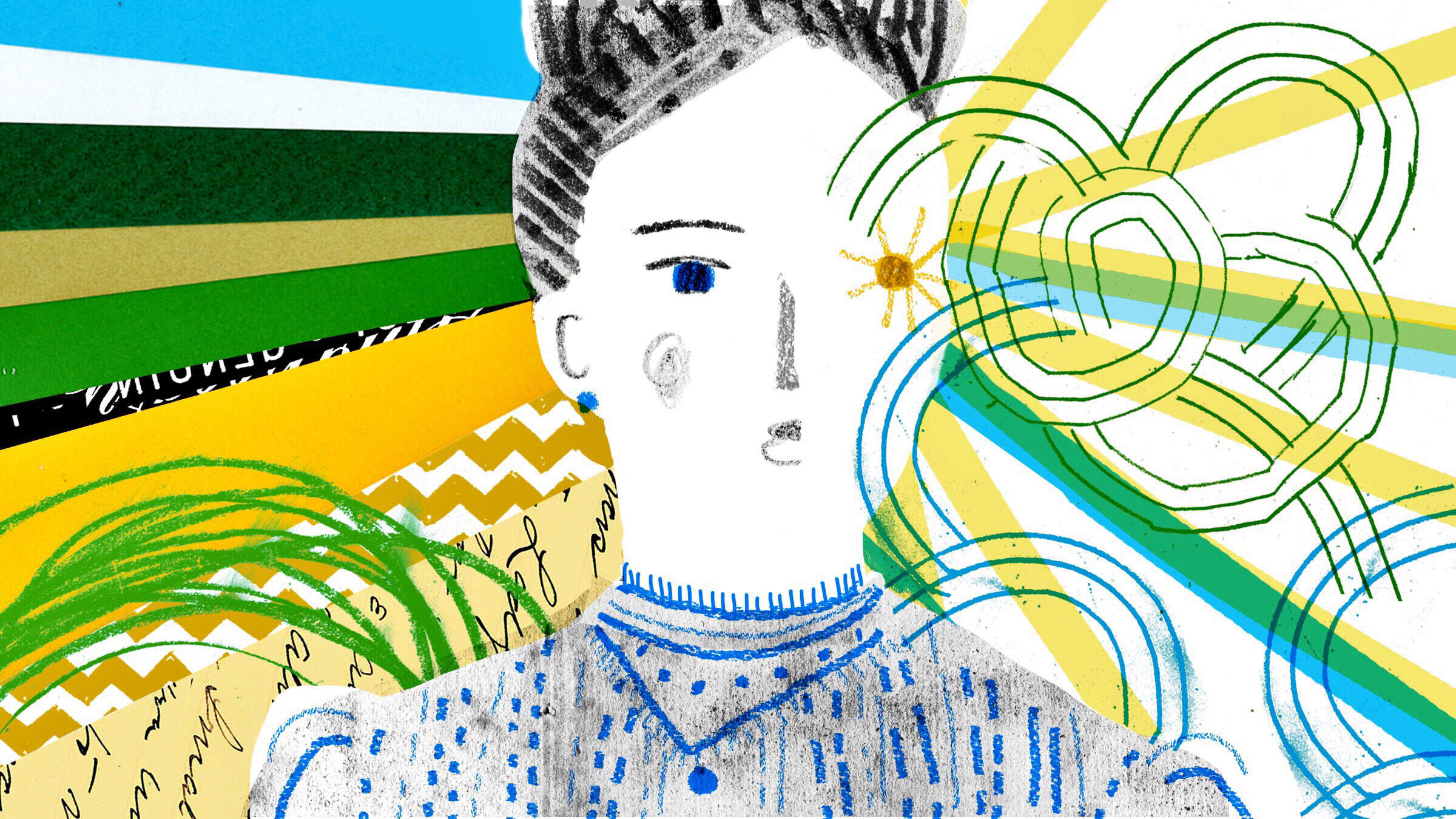 An artistic representation of amateur climate scientist Eunice Foote, who discovered the greenhouse effect in the 1850s. No known photographs of Foote exist as of publication. Illustration: Andrea D'Aquino