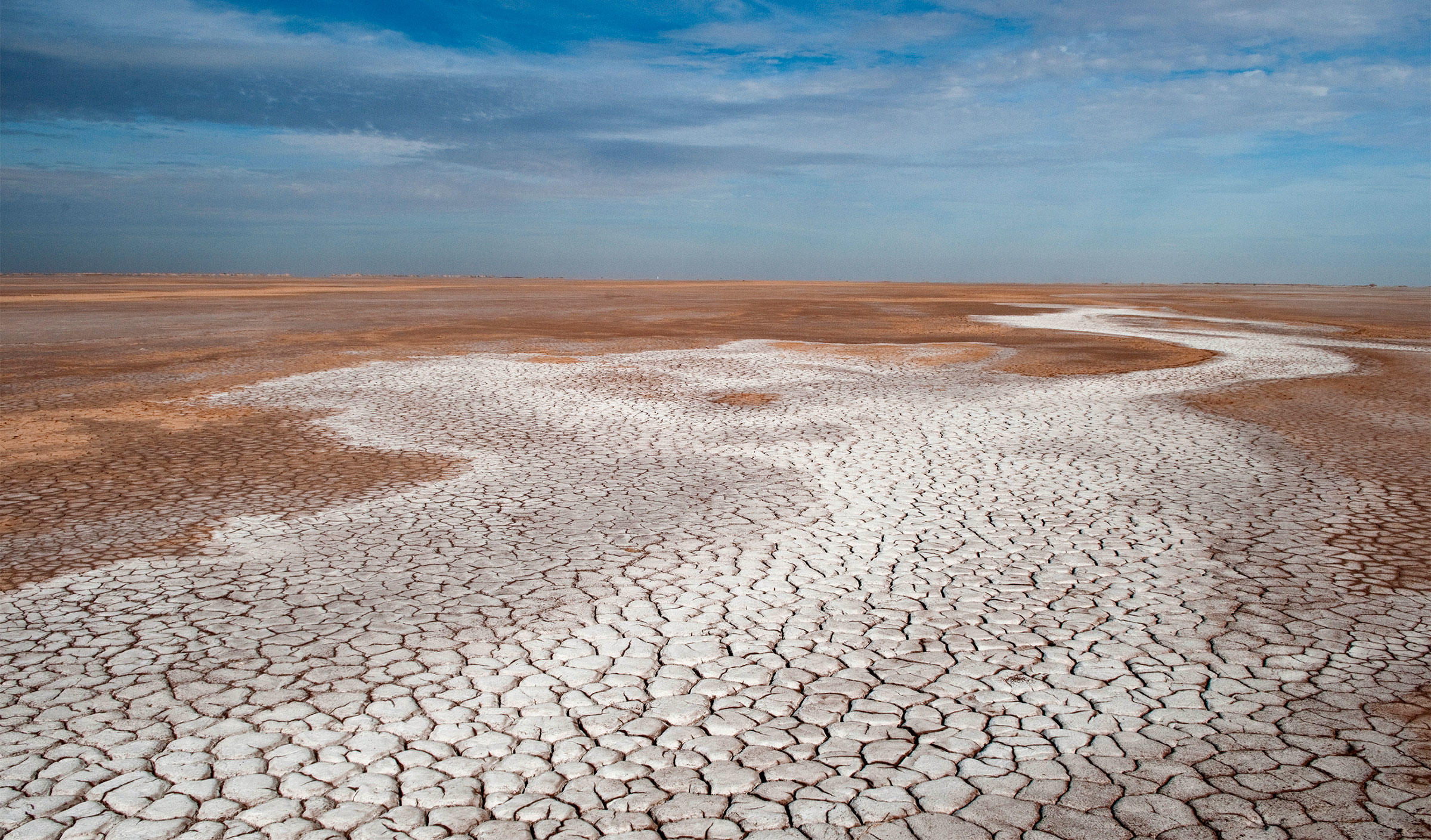 Without an influx of water, the Colorado River trickles to a halt 100 miles inland of its historical coastal outlet in Mexico. Pete McBride/National Geographic Creative
