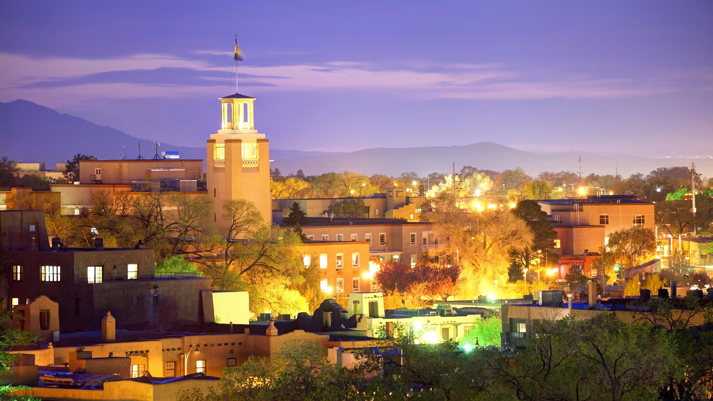 Santa Fe's cityscape is dotted by mountains and other natural wonders. Denis Tangney Jr/iStock