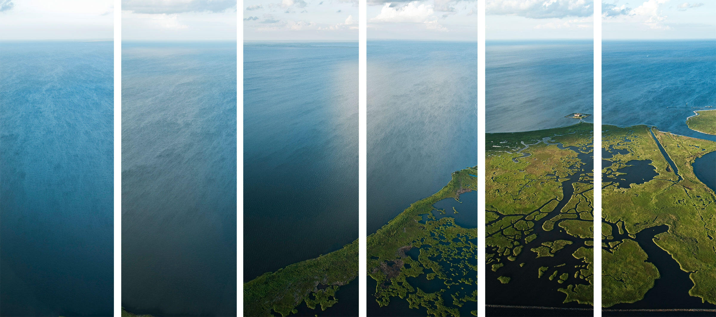 Thousands of mile of oil and gas canals have altered fragile Gulf marshes and allowed saltwater to penetrate coastal wetlands. A football field-size chunk of wetlands vanishes into open water almost every hour. Michel Varisco