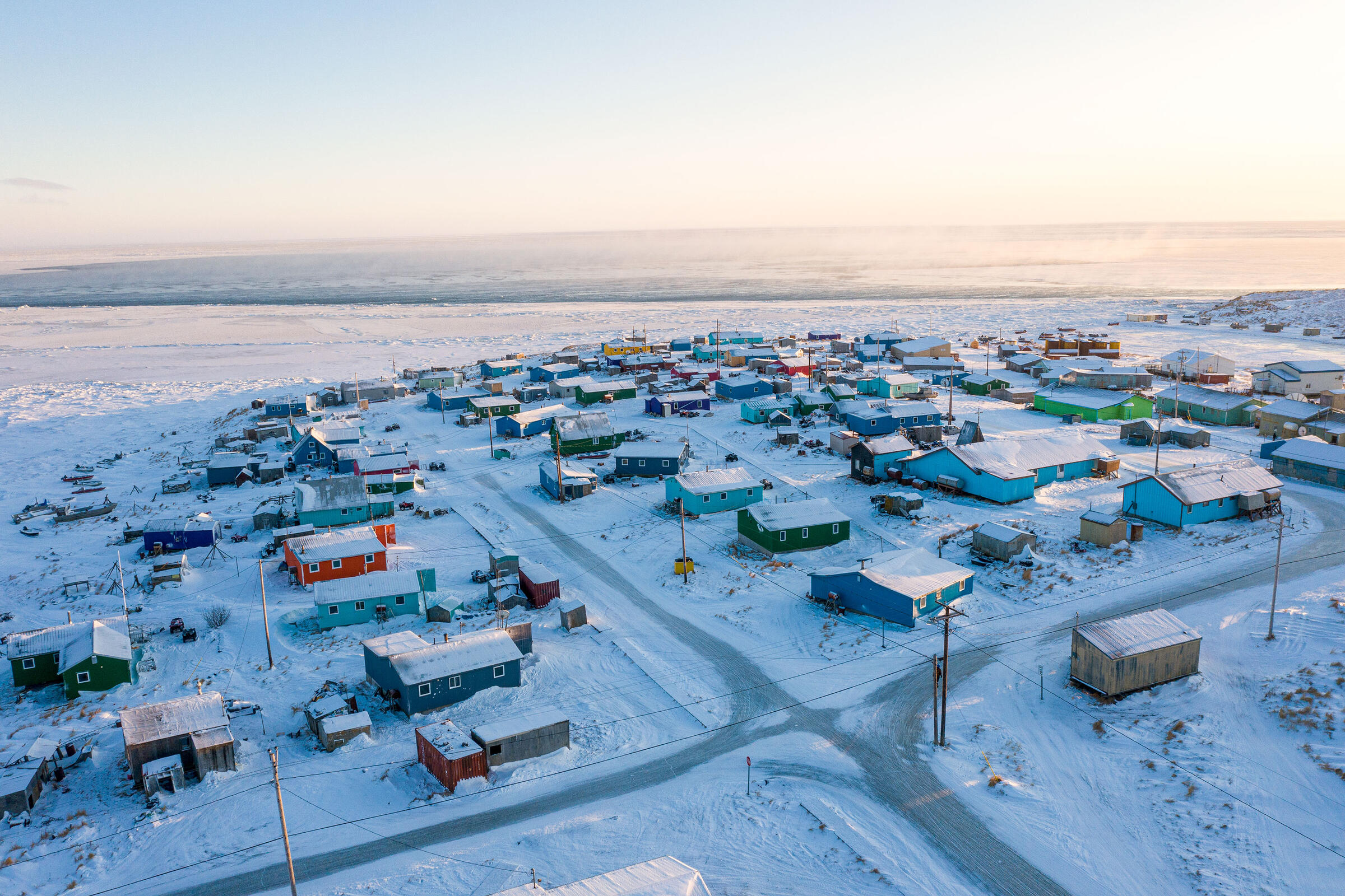 Toksook Bay, Alaska. Matt Hage/U.S. Census Bureau