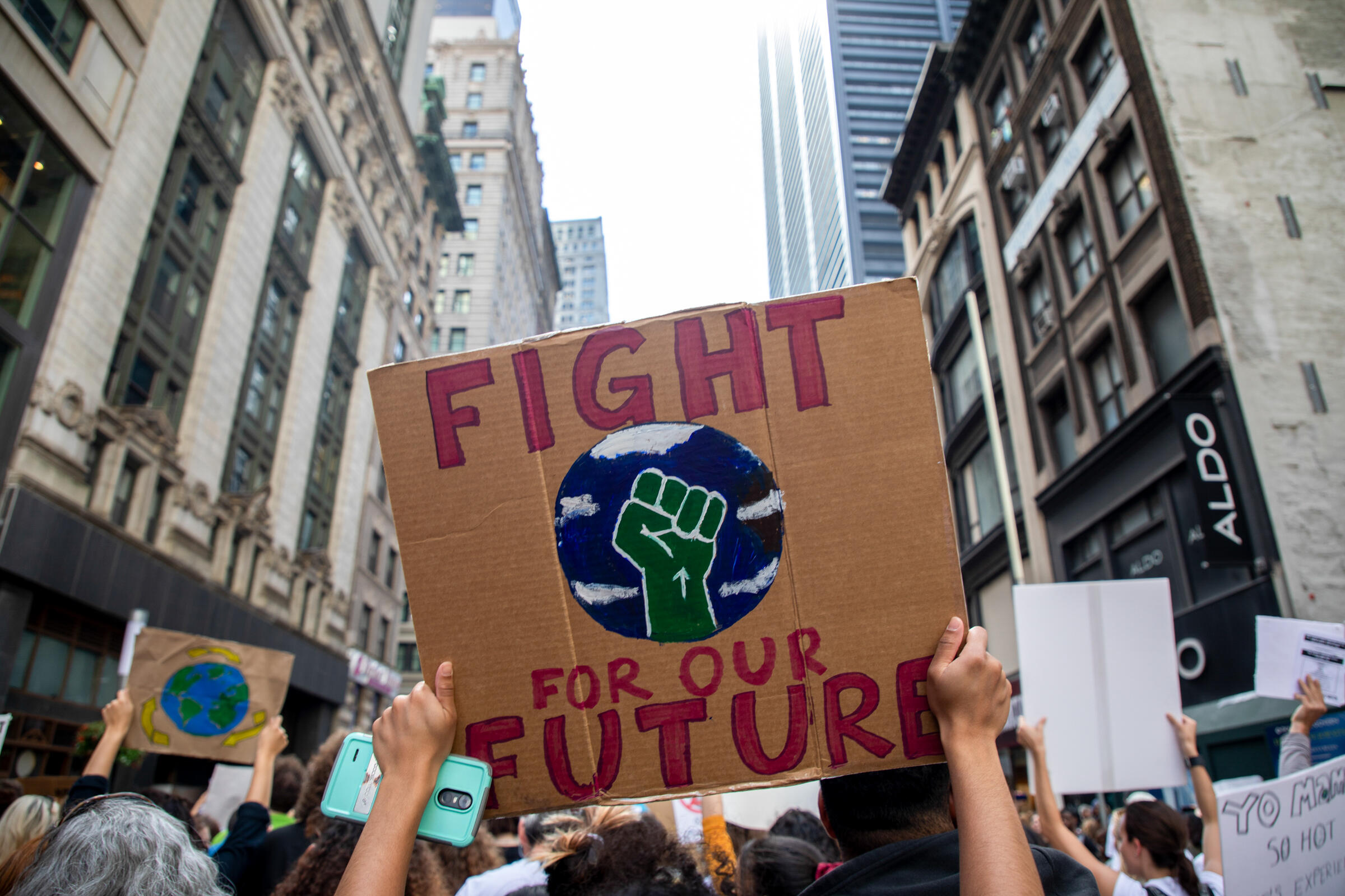 Climate advocates take to the streets during the Climate Strike March in New York City in September 2019. Camilla Cerea/Audubon