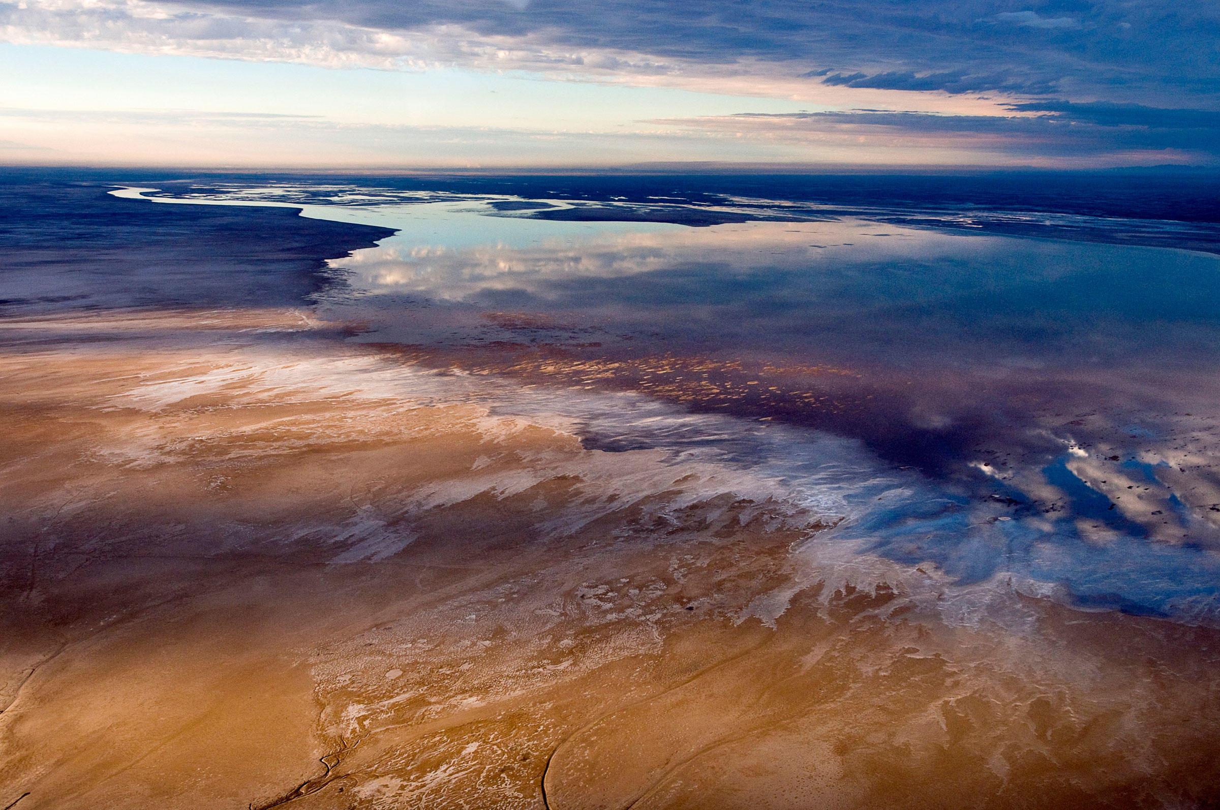 The 40,000-acre Ciénega de Santa Clara in the Colorado River Delta in Sonora, Mexico, is an accidental wetland created by discarded farm water. Peter McBride