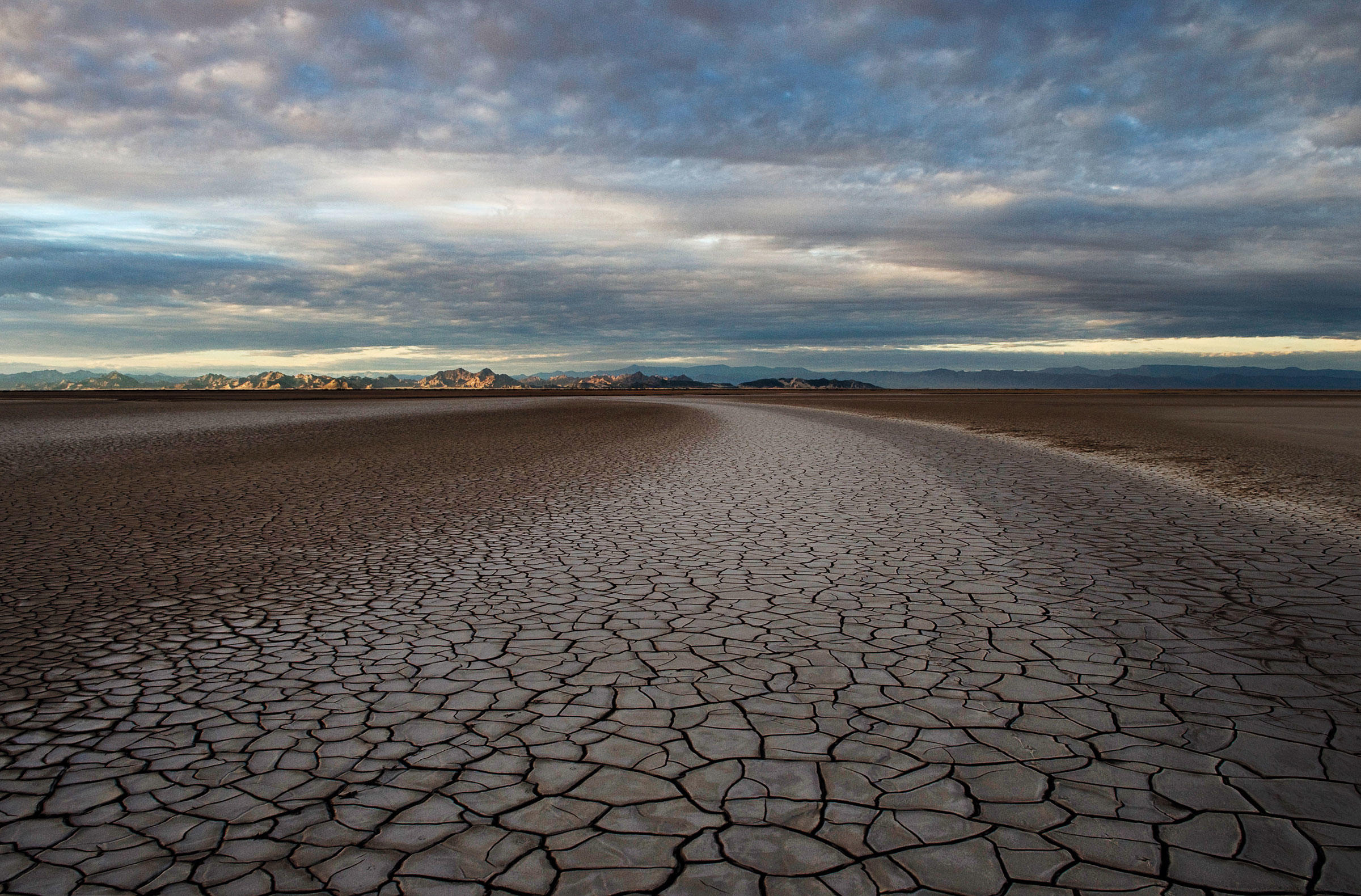This spot, 50 miles south of the U.S.-Mexico border, was once part of the Colorado River Delta wetlands, which have been effectively eliminated by upriver dams. Pete McBride