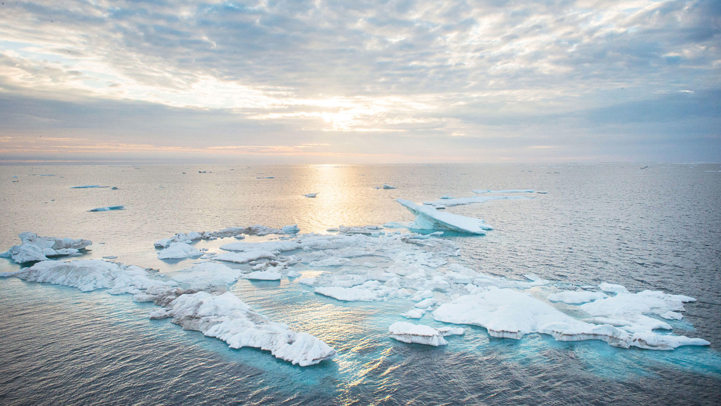Melting sea ice in the Chukchi Sea, one of the areas included in the ban. Esther Horvath