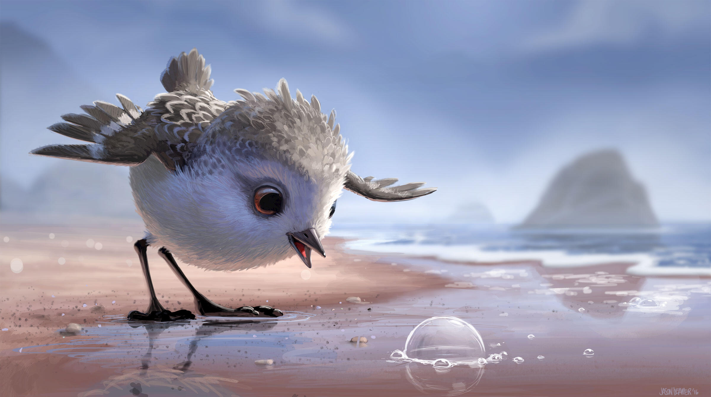 Our hero, Piper the sandpiper. Image: Disney•Pixar