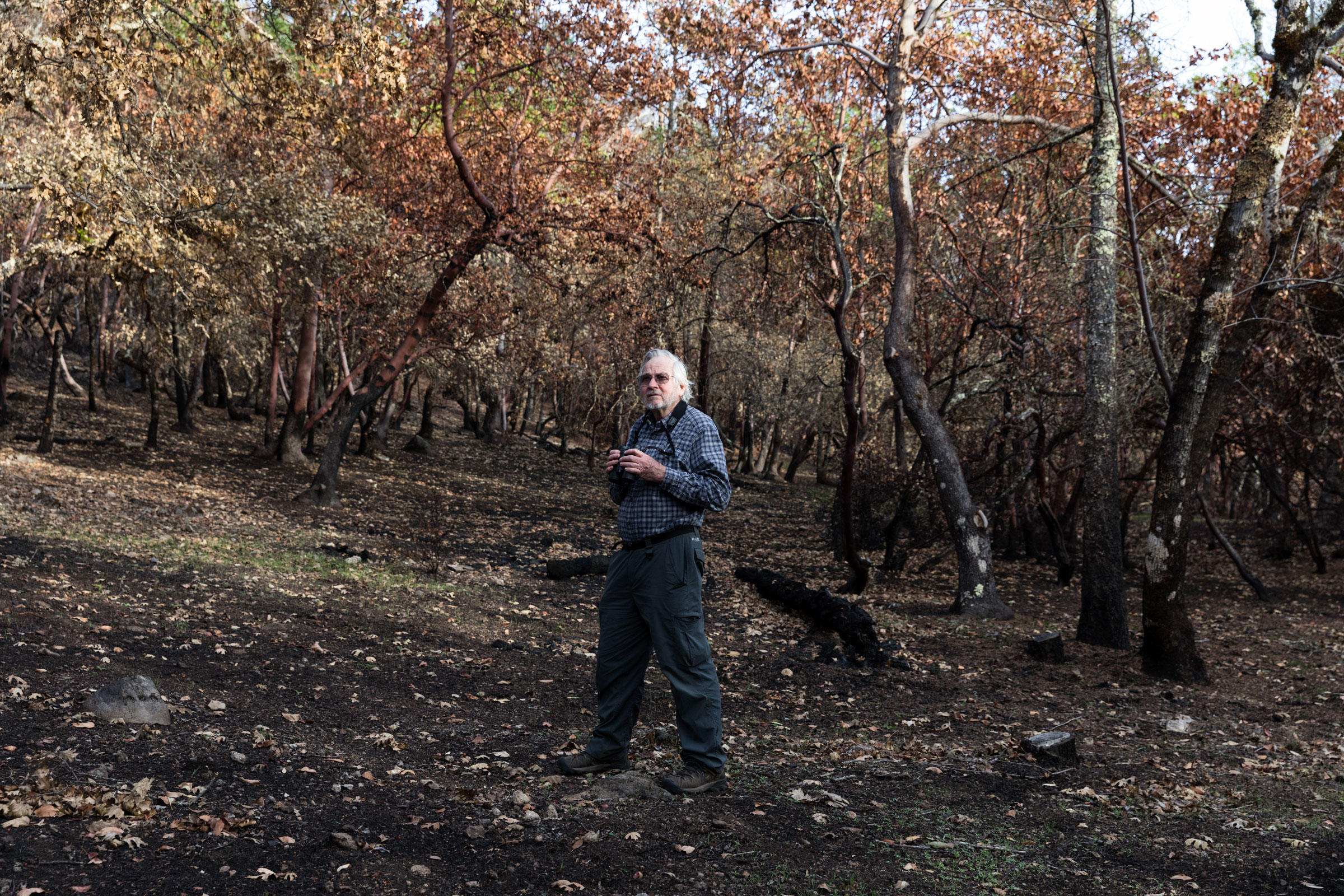 """Rodney Jackson, Trinity birder and founder of the Snow Leopard Conservancy, says: """"Until we learn to manage the landscape with controlled burns, we'll always have massive wildfire."""" Ryan Young"""