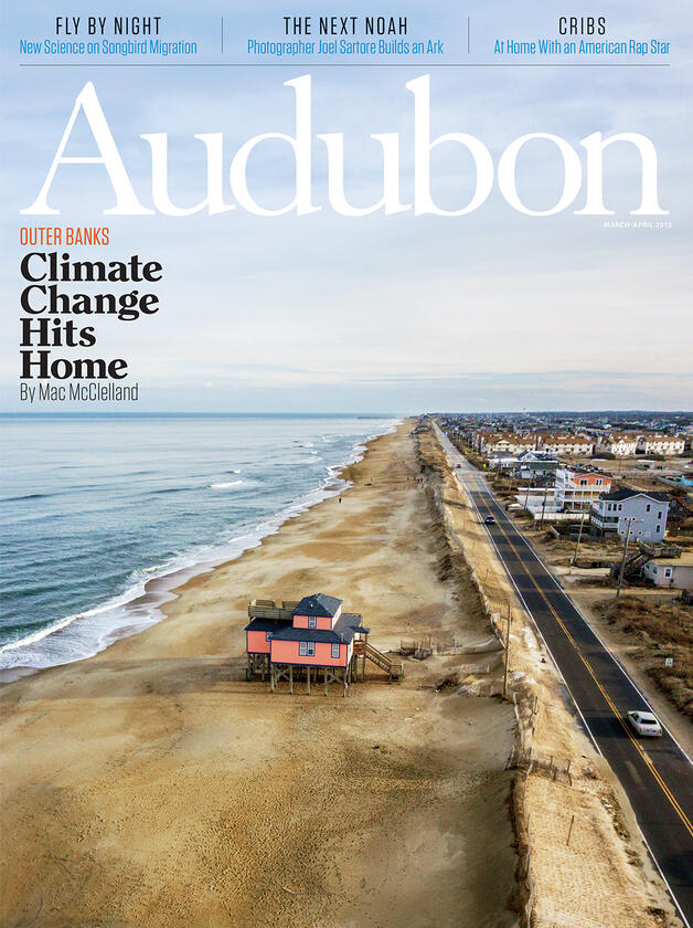 Twenty years ago this house on a stretch of beach between Route 12 and the Atlantic Ocean in Kitty Hawk, North Carolina, had plenty of neighbors. All of them have since been moved—or fallen into the sea. Dan Waters Photography