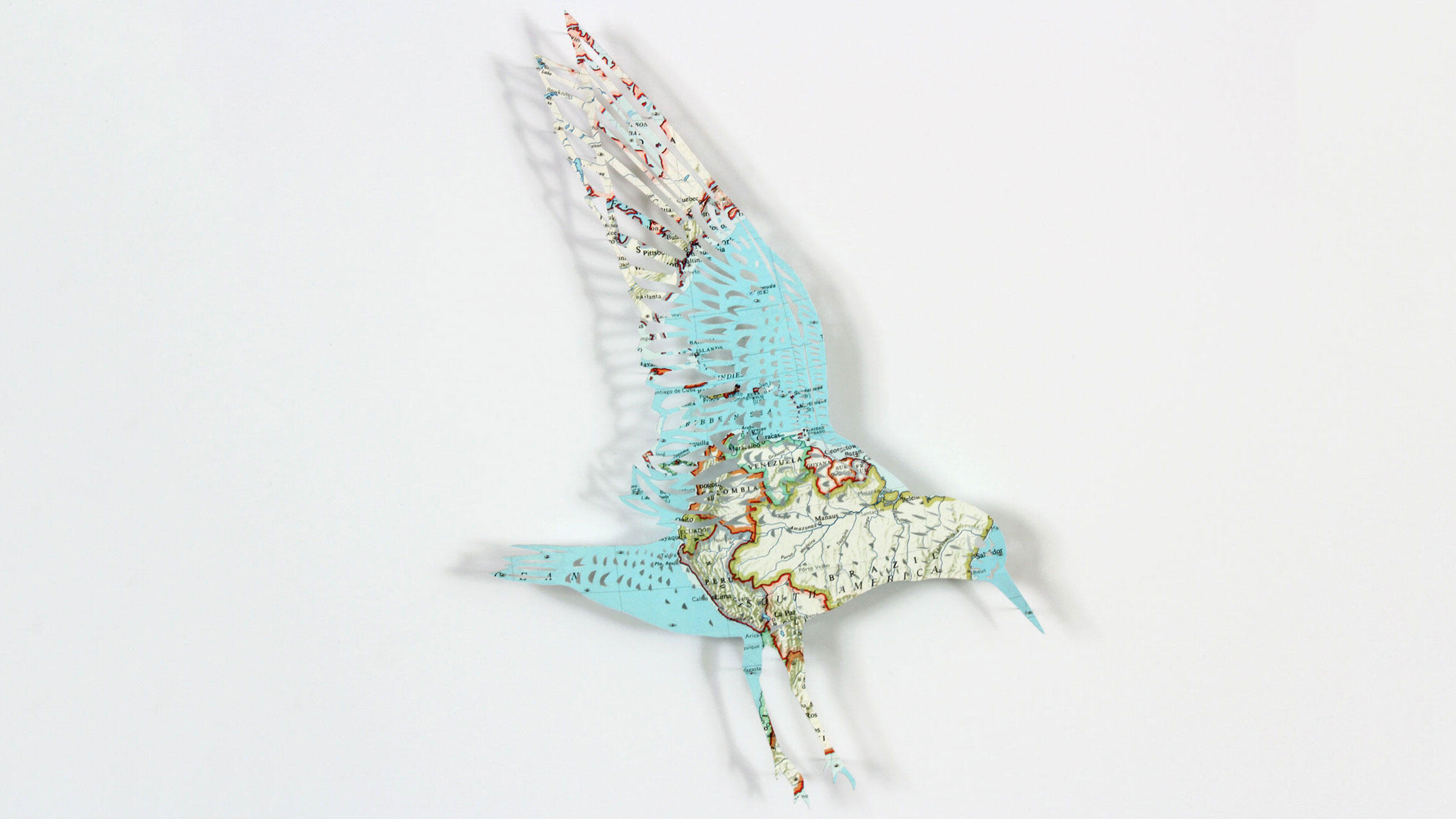 Red-breasted Sandpiper (Red Knot). Paper sculpture: Claire Brewster