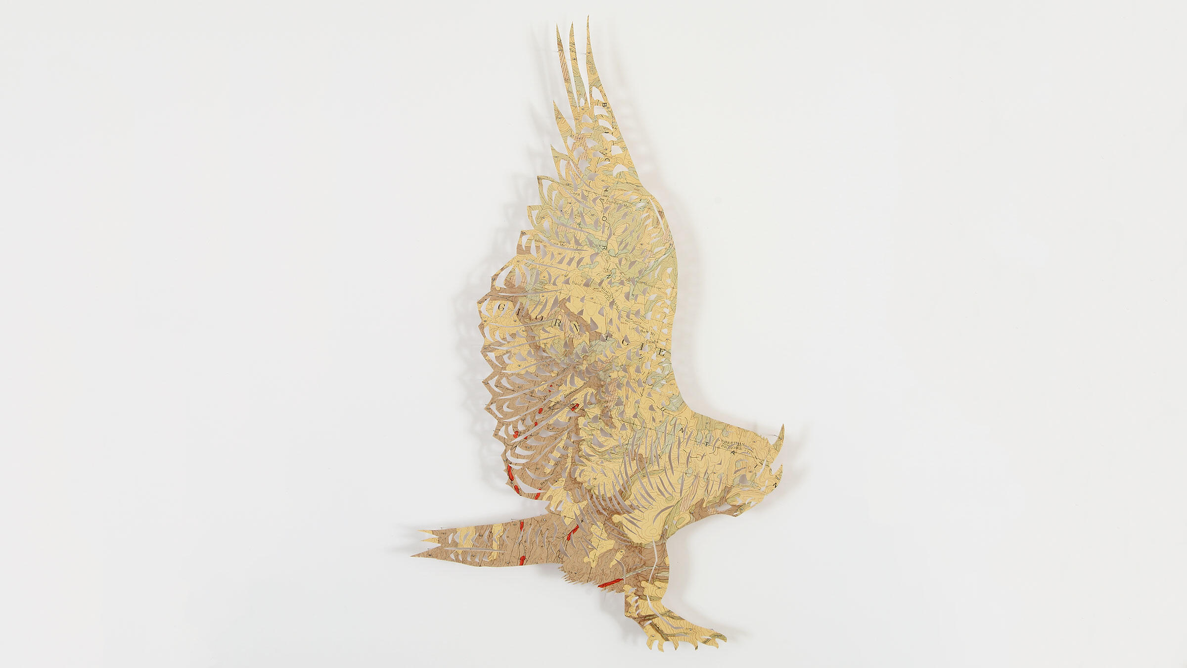 Great Horned Owl. Paper sculpture: Claire Brewster