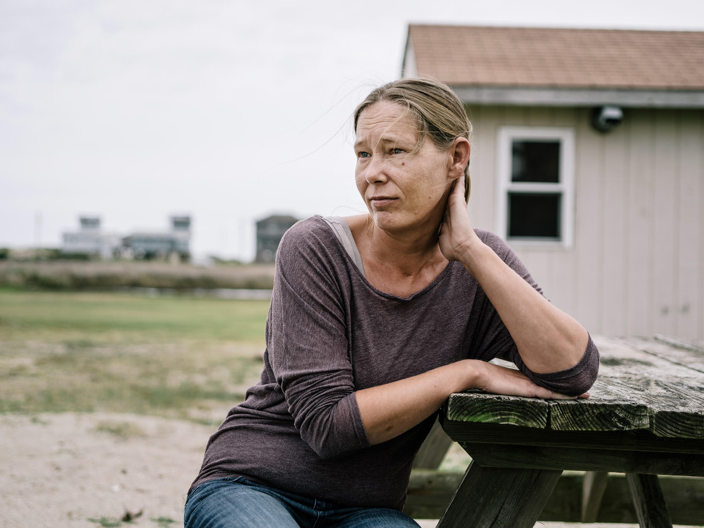 Stephanie O'Neal, works at the Sea Sound Motel in Rodanthe on the Outer Banks, NC. Greg Kahn