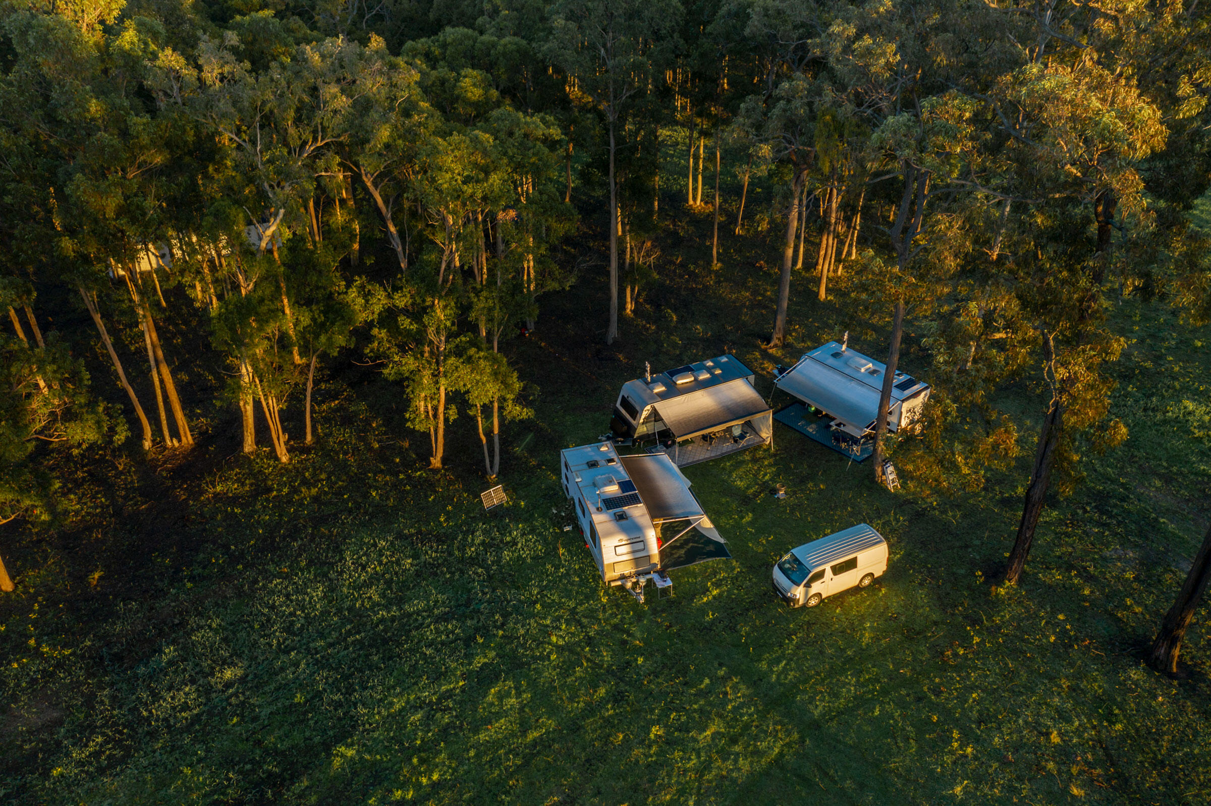 Aerial image of the release site. Doug Gimesy