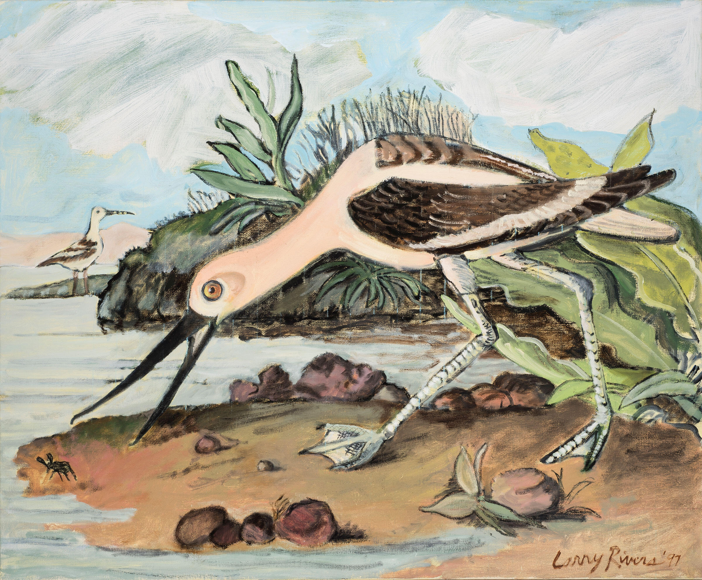 American Avocet. Painting: Courtesy of the Larry Rivers Foundation and gallery