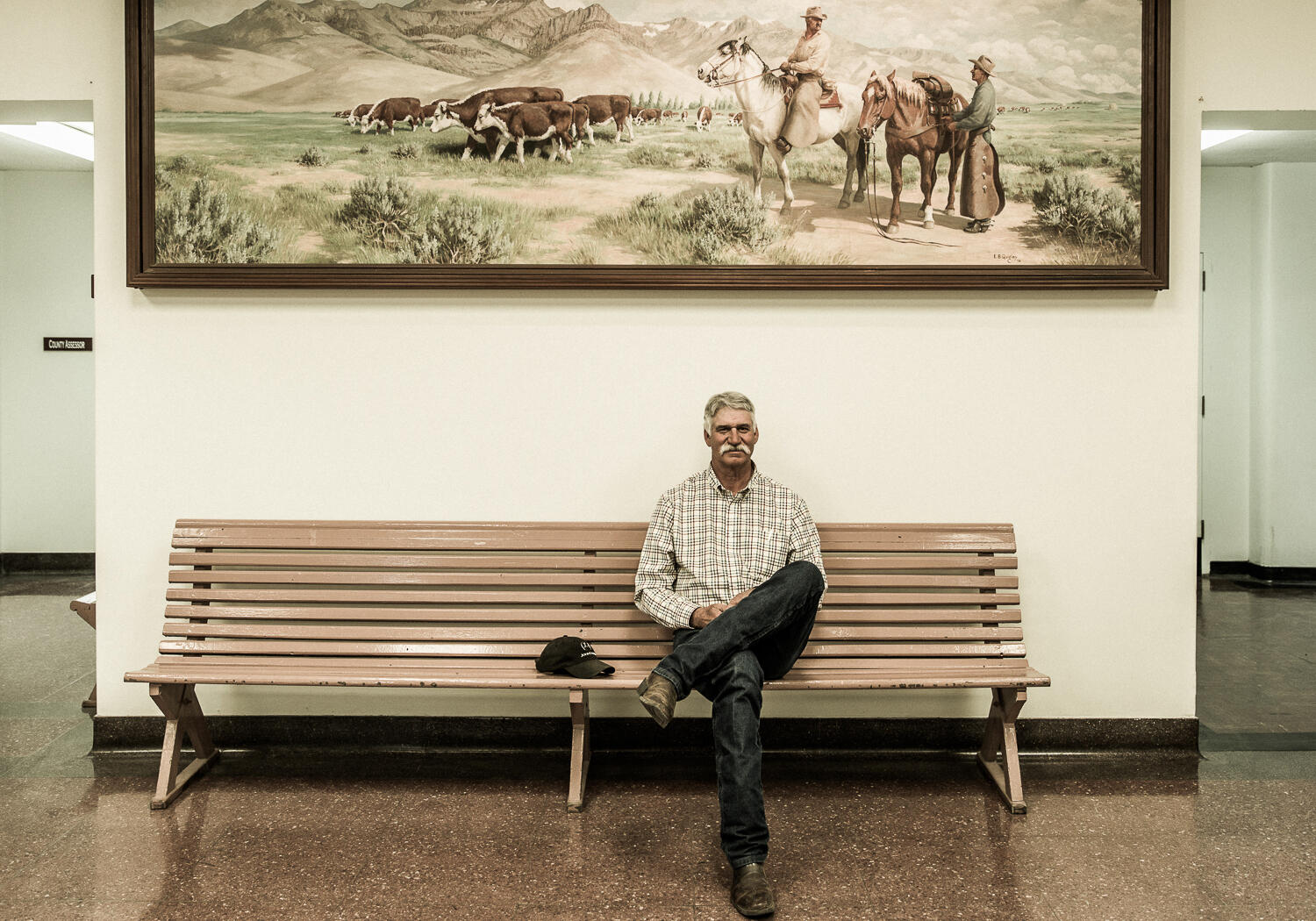 County Commissioner Dan Nichols photographed at the Harney County Court House. John Clark