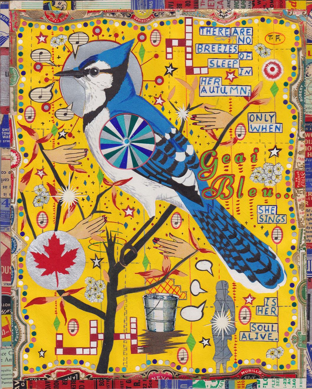 """""""Blue Jay."""" Illustration: Tony Fitzpatrick"""