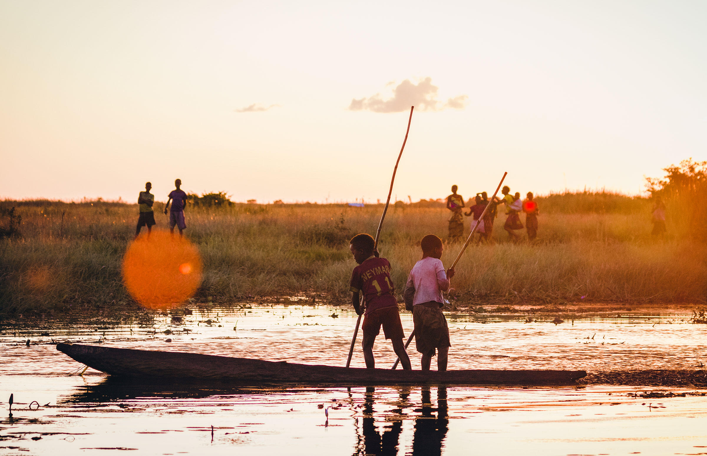 Community members of the Bangweulu Wetlands. Mana Meadows/African Parks