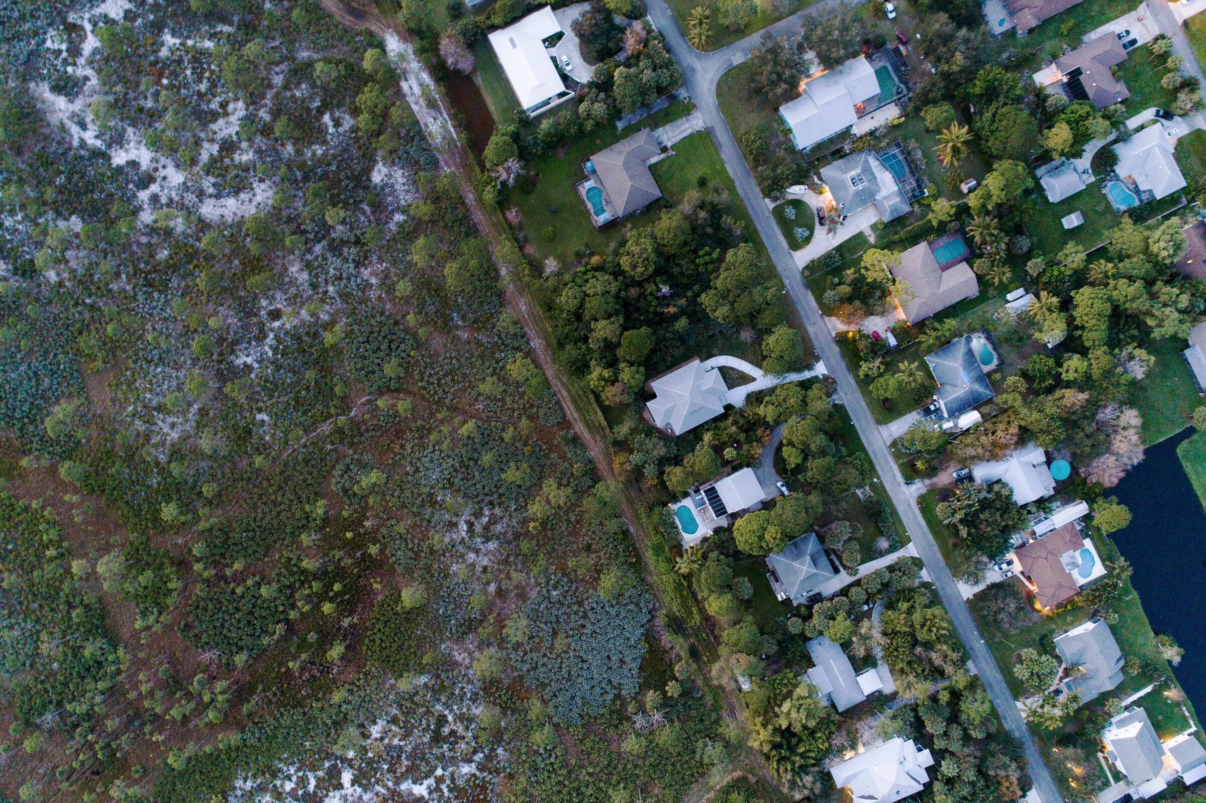 A housing development abuts Jonathan Dickinson's white sand and scrub habitat. Carlton Ward Jr.