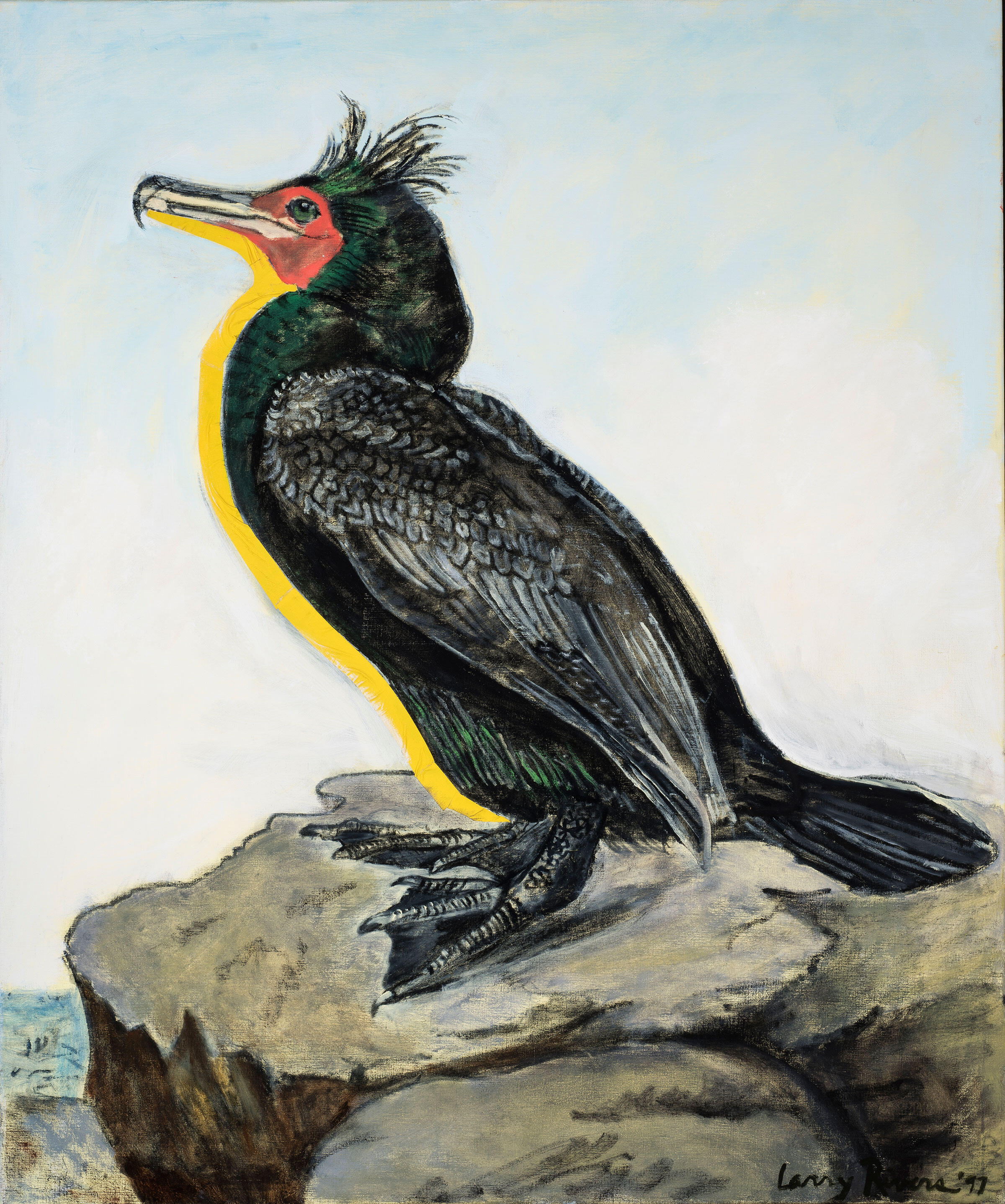 Double-crested Cormorant. Painting: Courtesy of the Larry Rivers Foundation and gallery