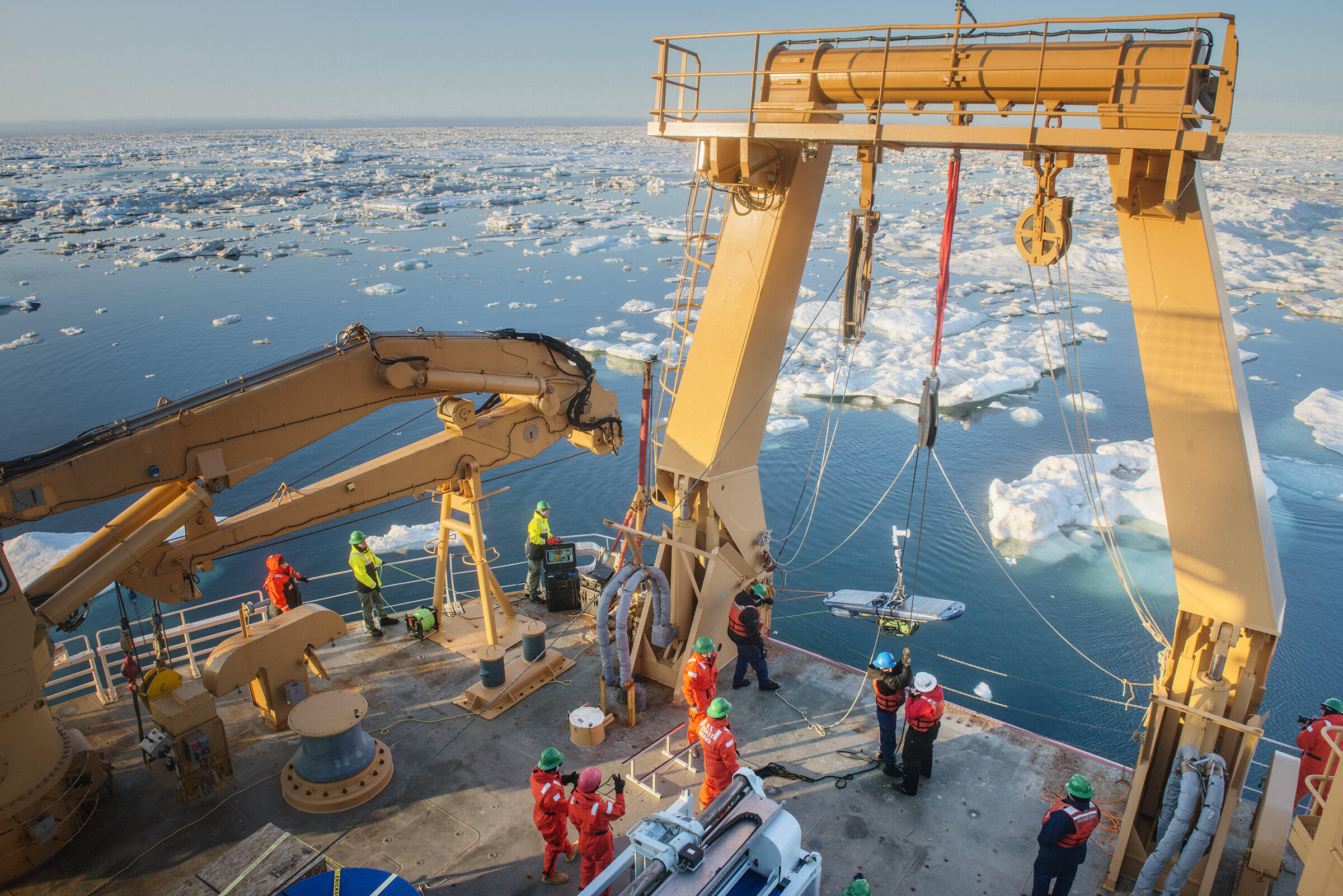 SAREX operation in Beaufort Sea. Esther Horvath