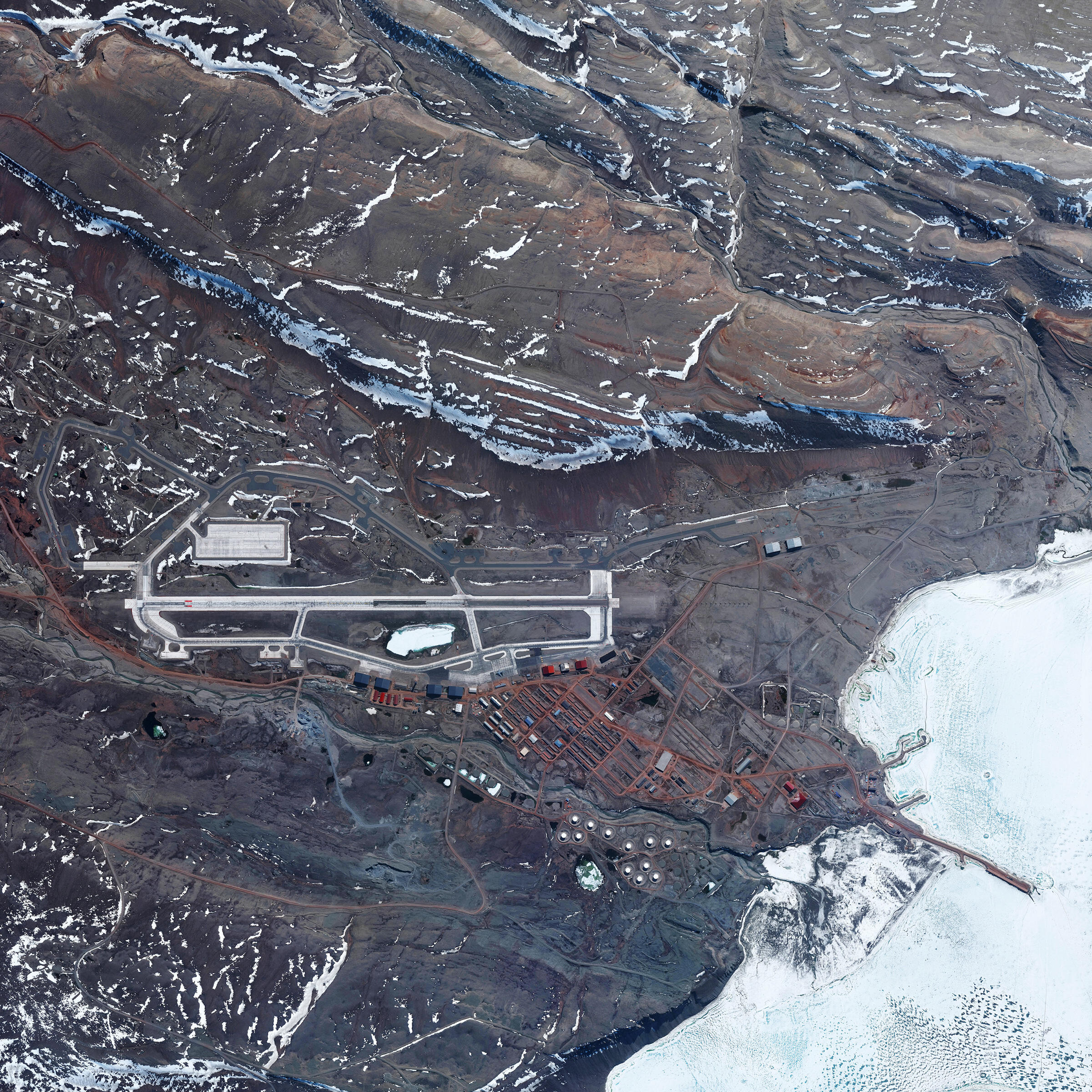 US Thule Air Base, Greenland. Daily Overview | Satellite images (c) 2015, DigitalGlobe, Inc.