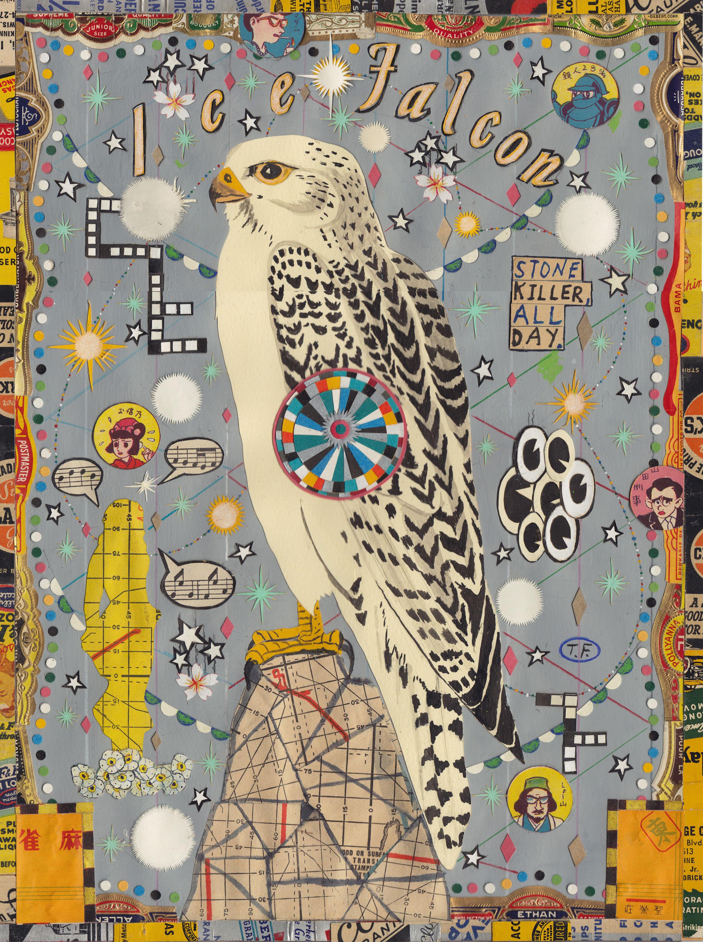 """""""Ice Falcon."""" Illustration: Tony Fitzpatrick"""