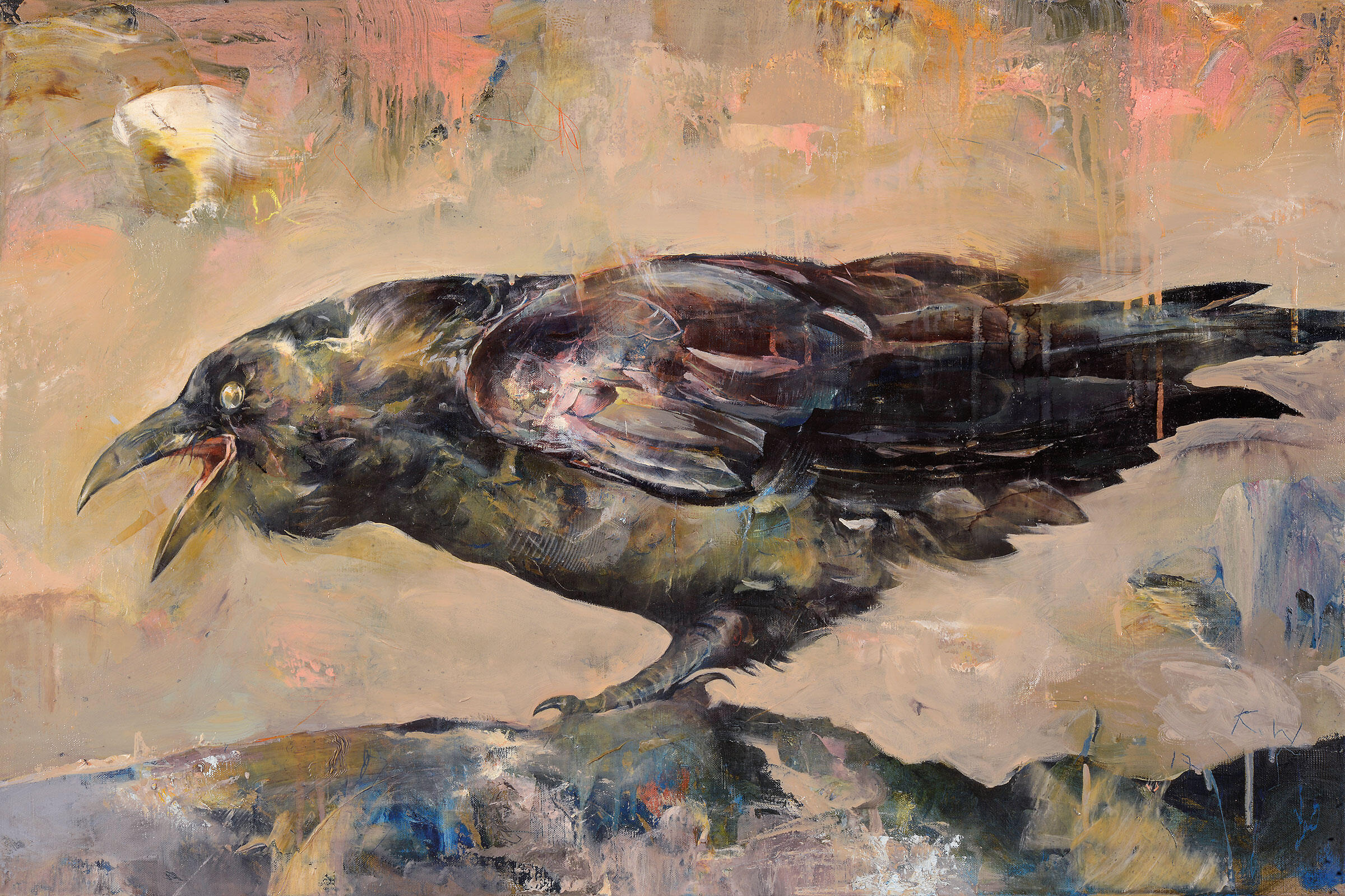 Raven. Painting: Kent Williams/101/EXHIBIT