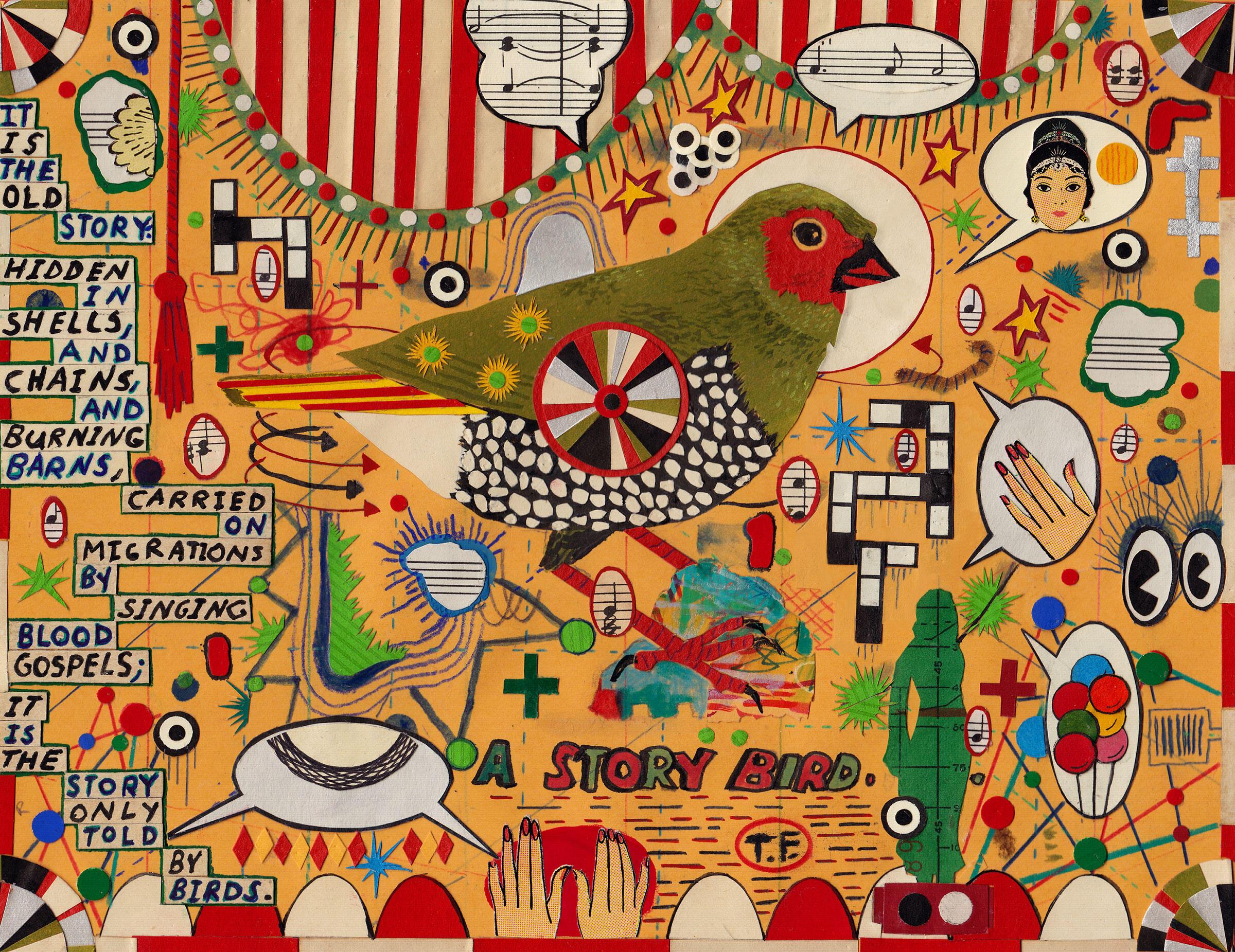 """A Story Bird."" Illustration: Tony Fitzpatrick"