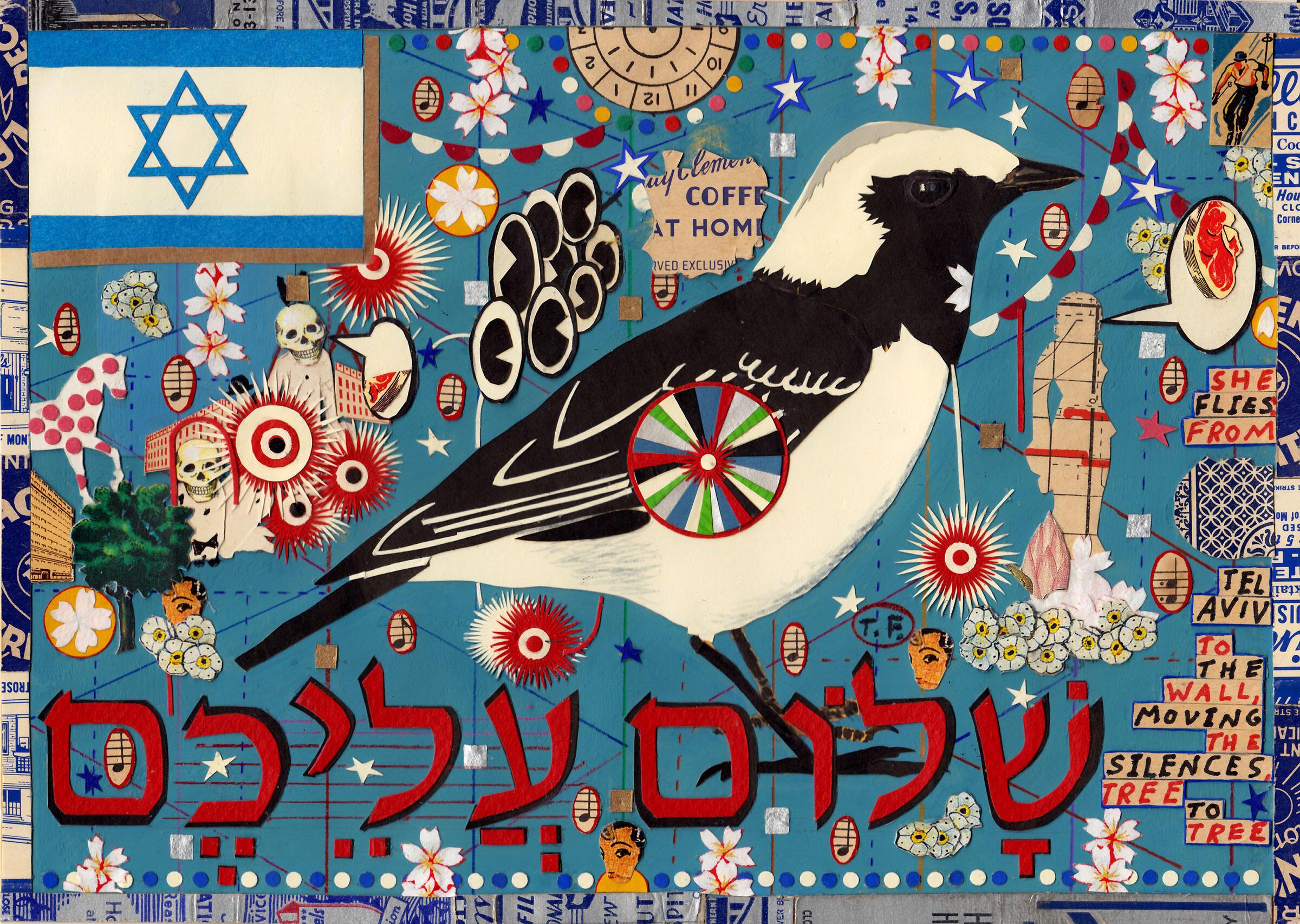 """A Bird for Israel."" Illustration: Tony Fitzpatrick"