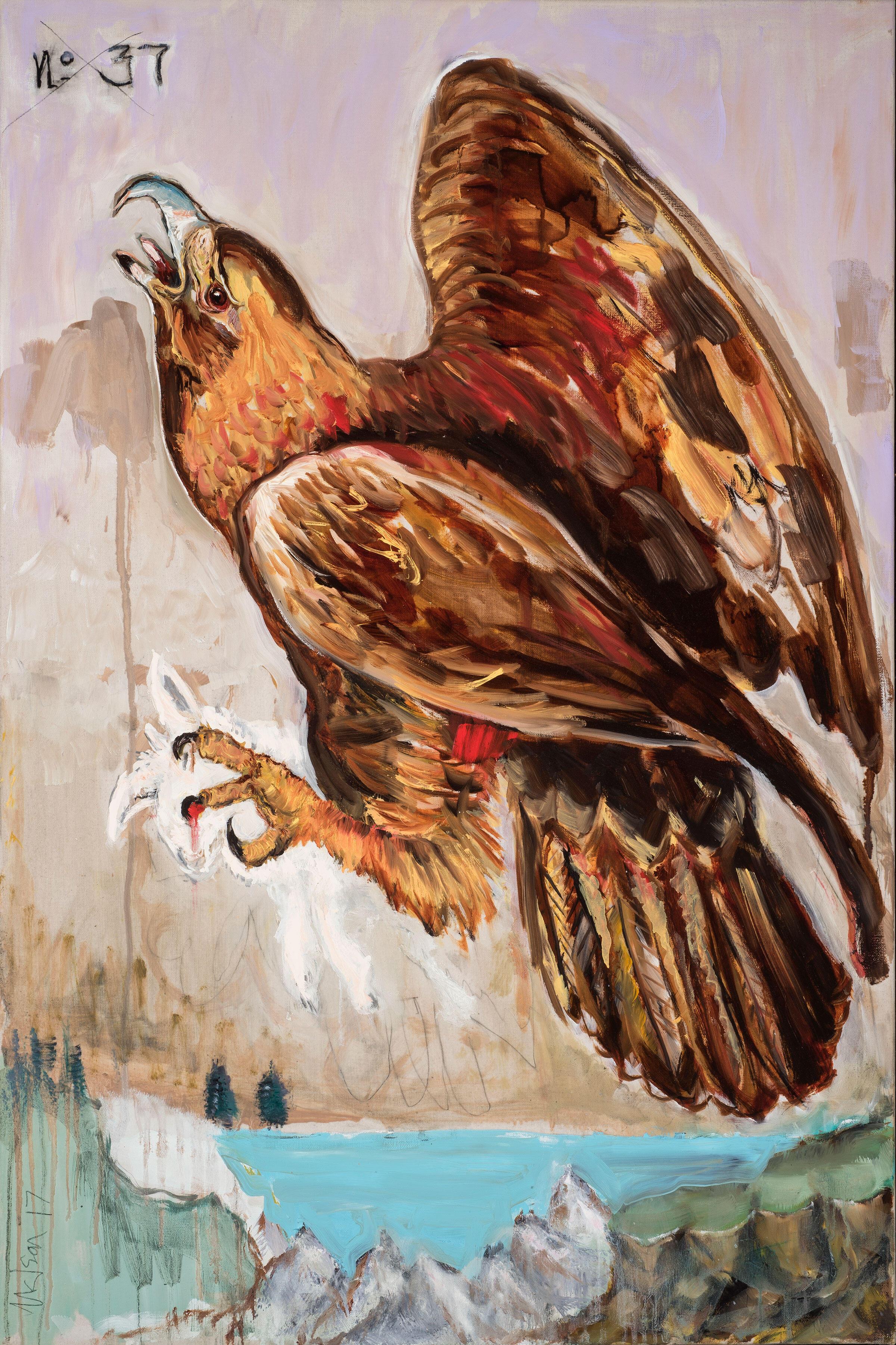 Golden Eagle. Painting: Nelson Loskamp/101/EXHIBIT