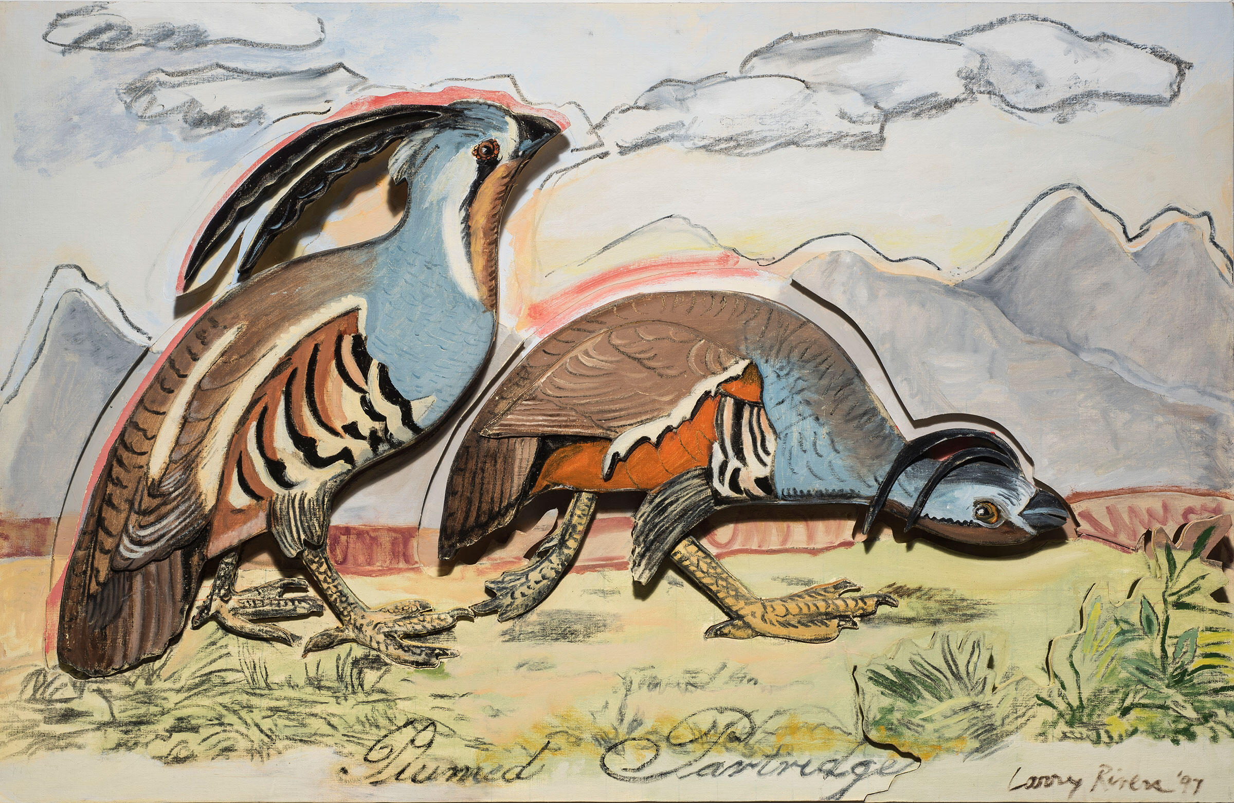 Plumed Partridge. Painting: Courtesy of the Larry Rivers Foundation and gallery