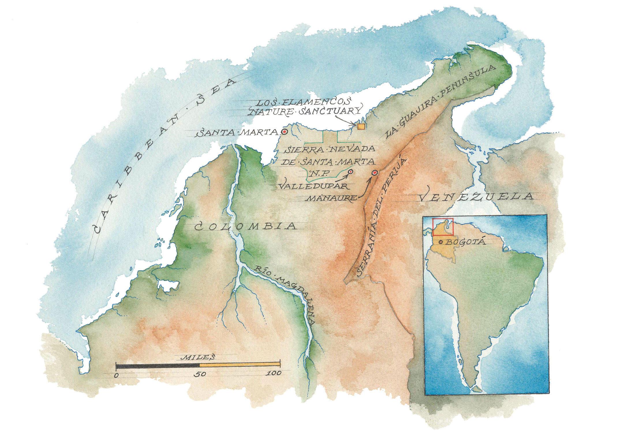 La geografía de la región noroeste de América del Sur. Mapa: Mike Reagan