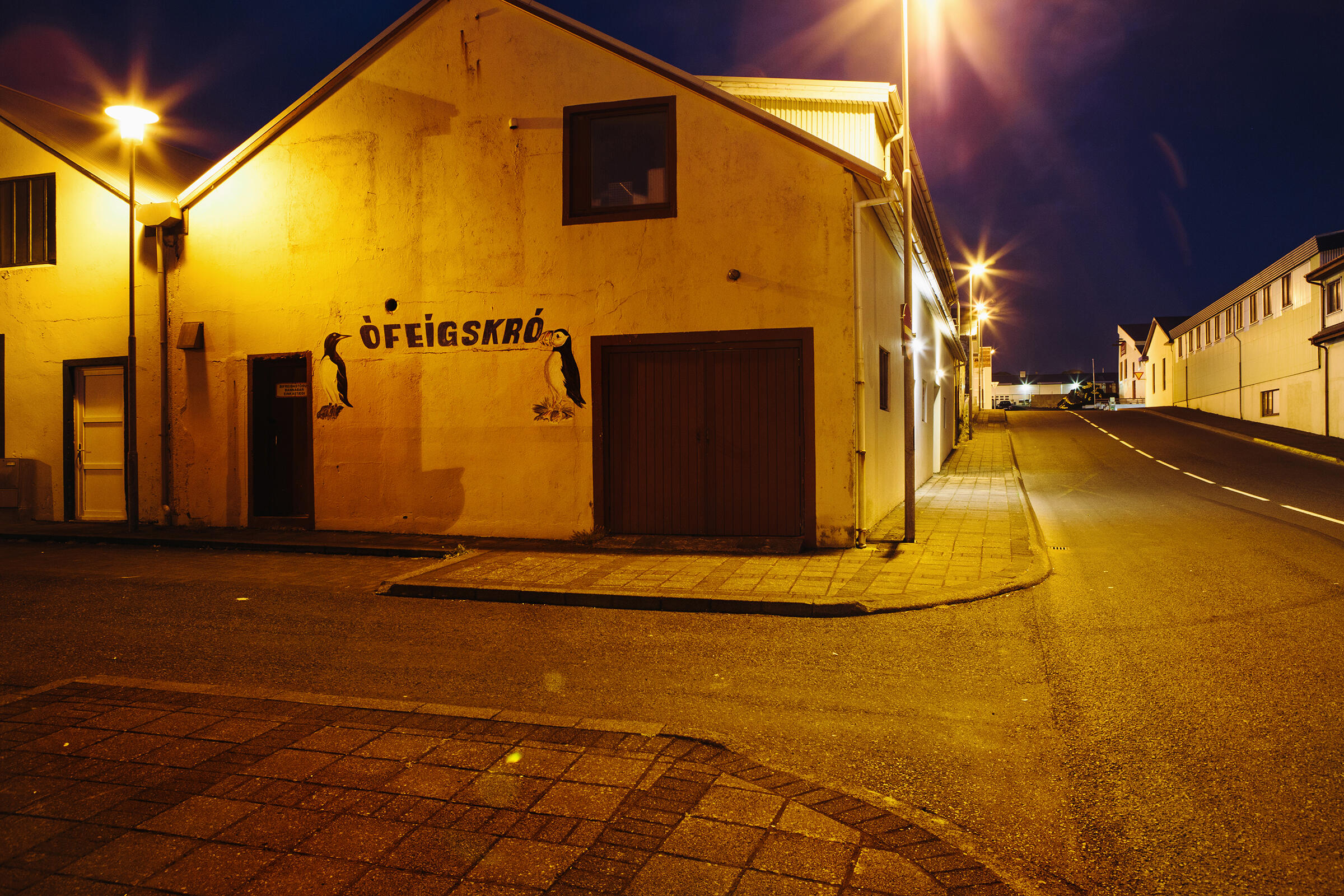Even the streets of Vestmannaeyjar are filled with the likeness of the puffin. Tristan Spinski