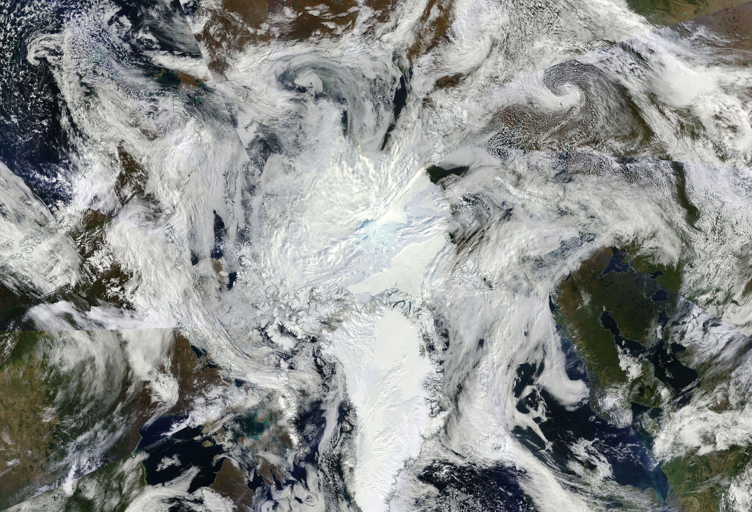 The Arctic, seen from above. NASA Worldview