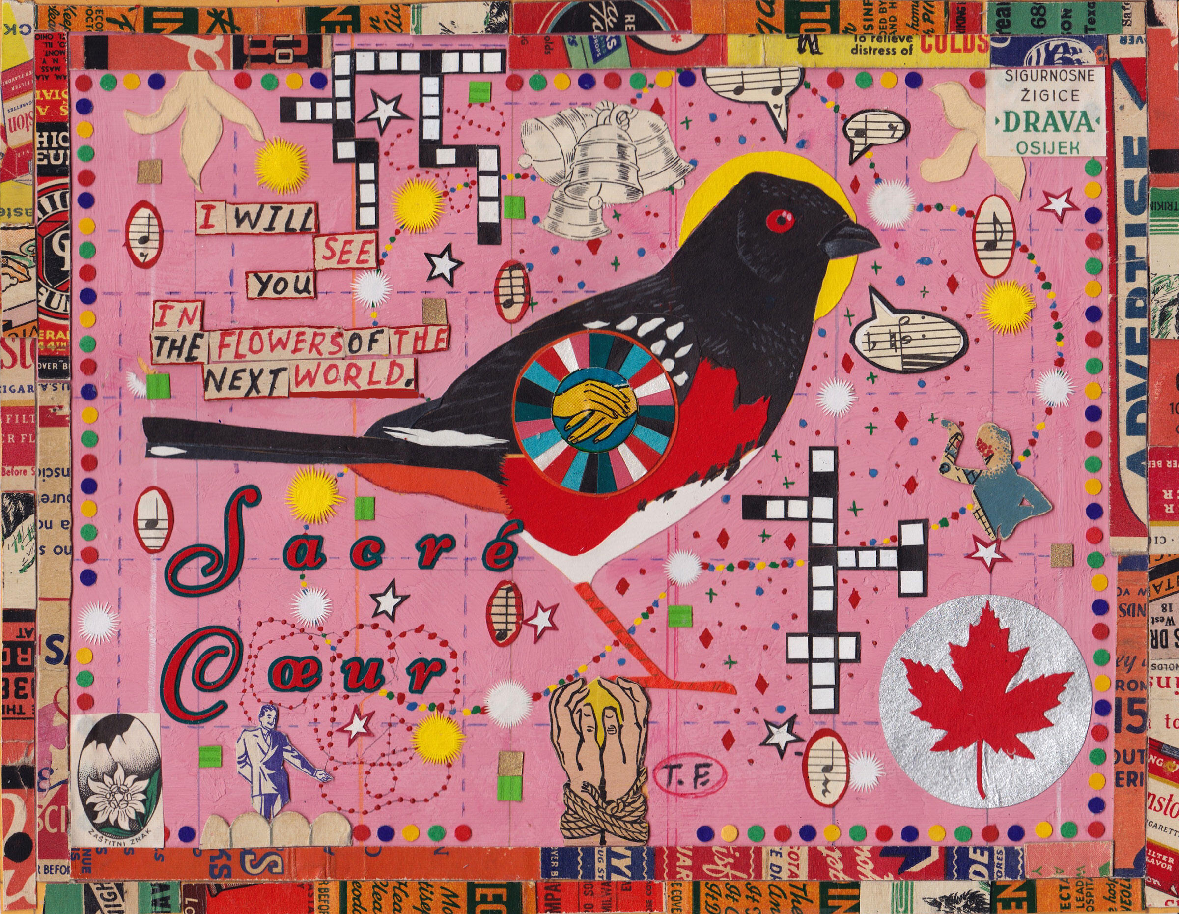 """""""Small Bird of the Sacred Heart."""" Illustration: Tony Fitzpatrick"""