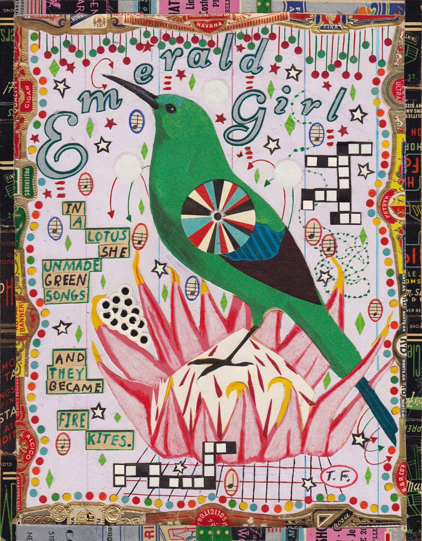 """Emerald Girl."" Illustration: Tony Fitzpatrick"