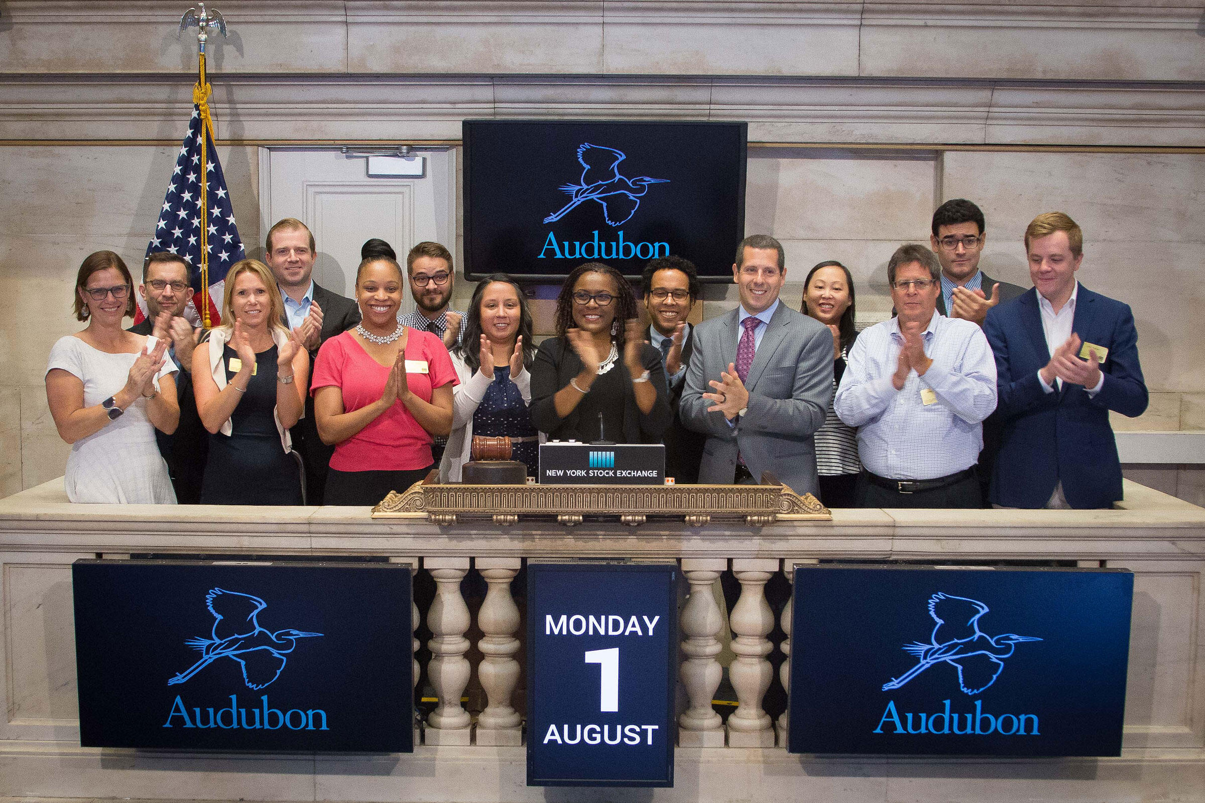 Ringing the opening bell at the New York Stock Exchange. NYSE/Valerie Caviness