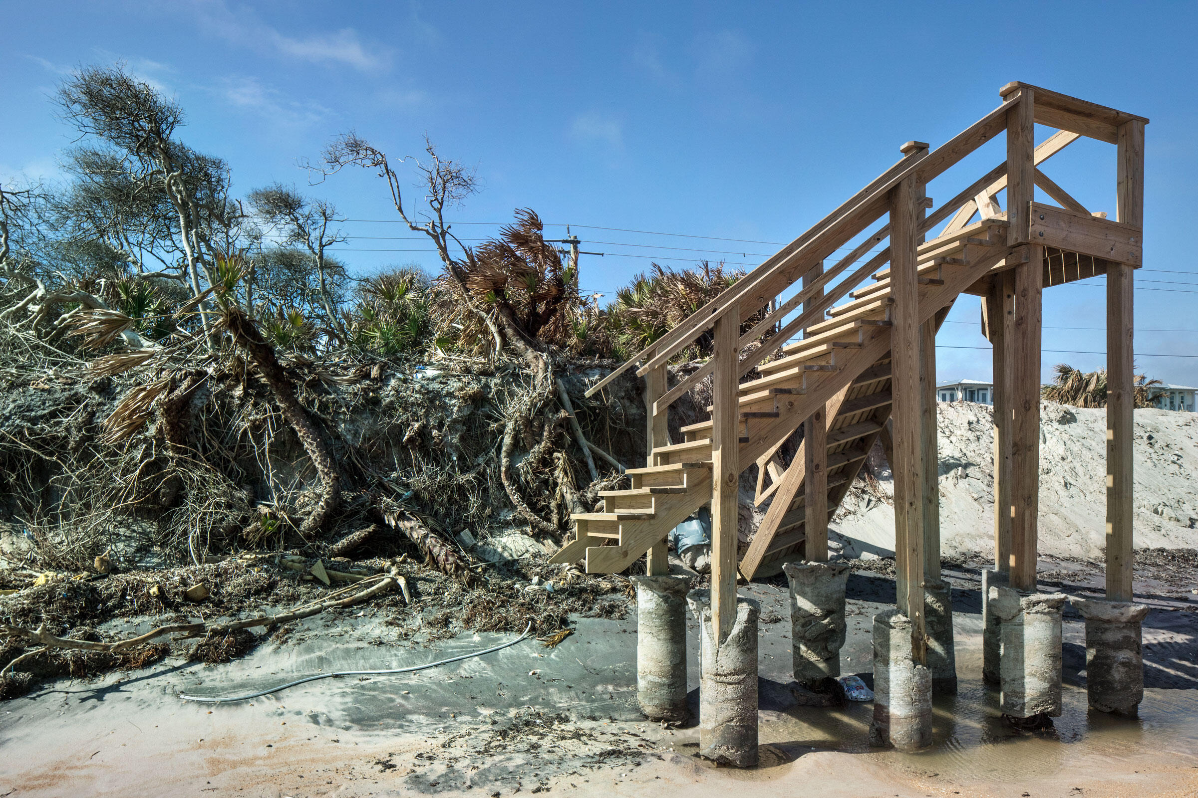 After Irma, freestanding stairs are all that's left of one home in South Ponte Vedra Beach. Andrew Moore