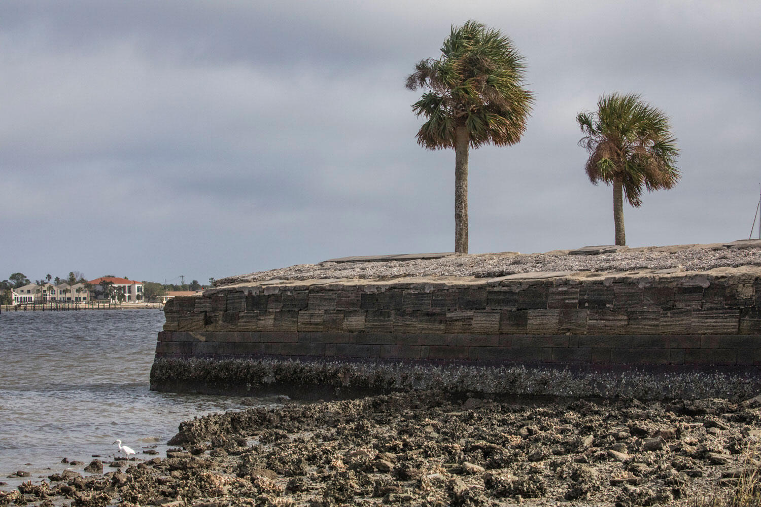 During Hurricane Matthew last year, seawater was able to breach the seven-foot-high walls of Castillo de San Marcos, a centuries-old fort in St. Augustine. Andrew Moore