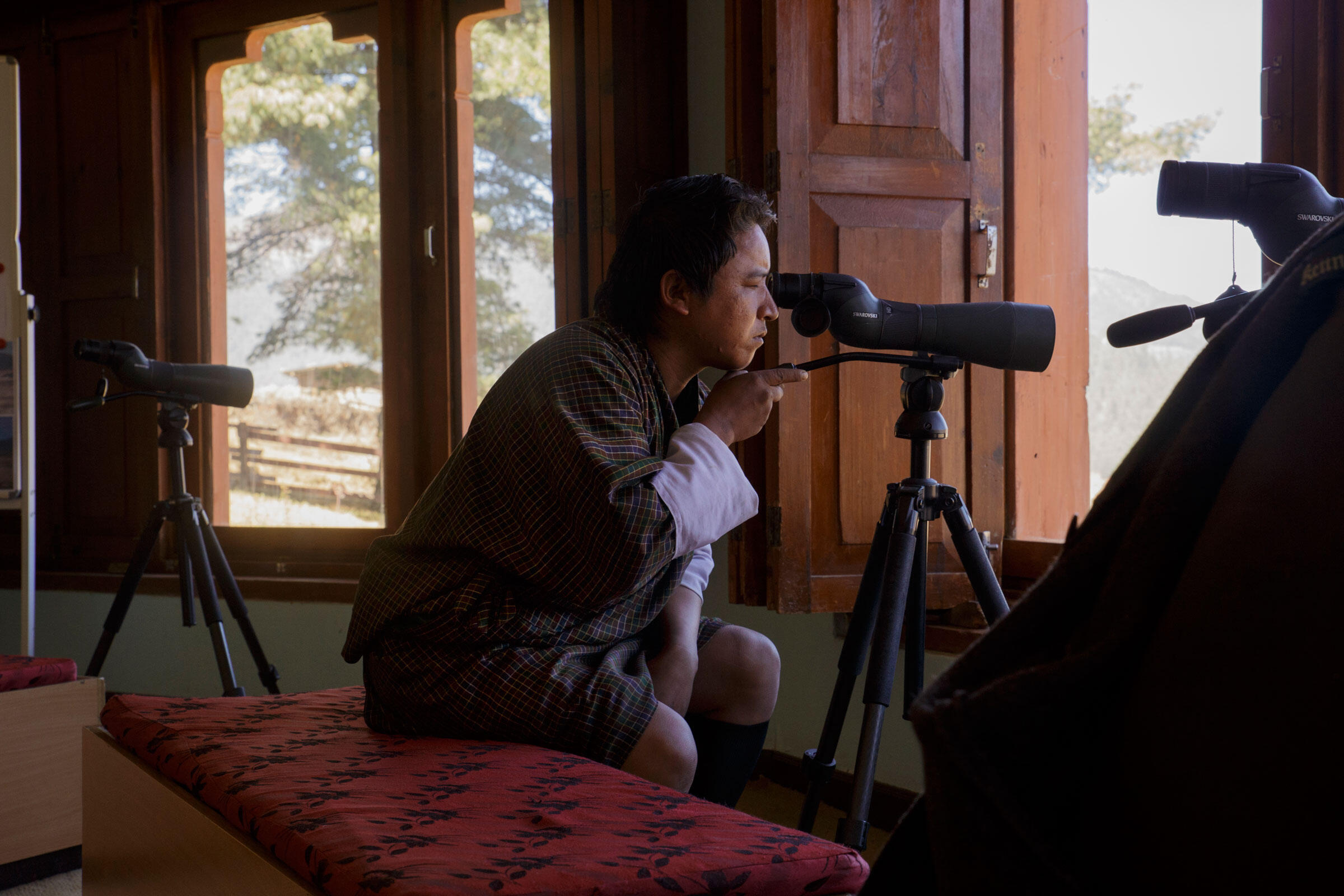 A local uses the observation room at the RSPN information center. Ambika Singh