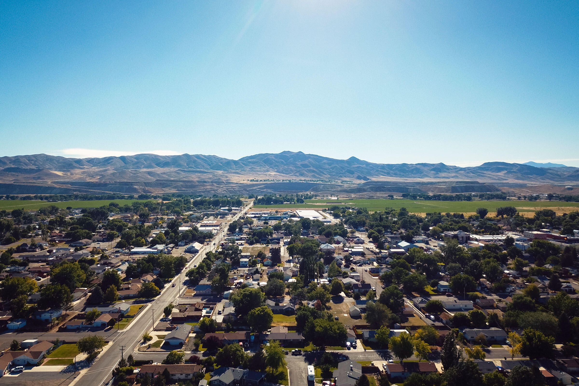 The city of Yerington, population 3,000, is only a few miles from the abandoned Anaconda mine. Zac Visco and Maggie Starbard
