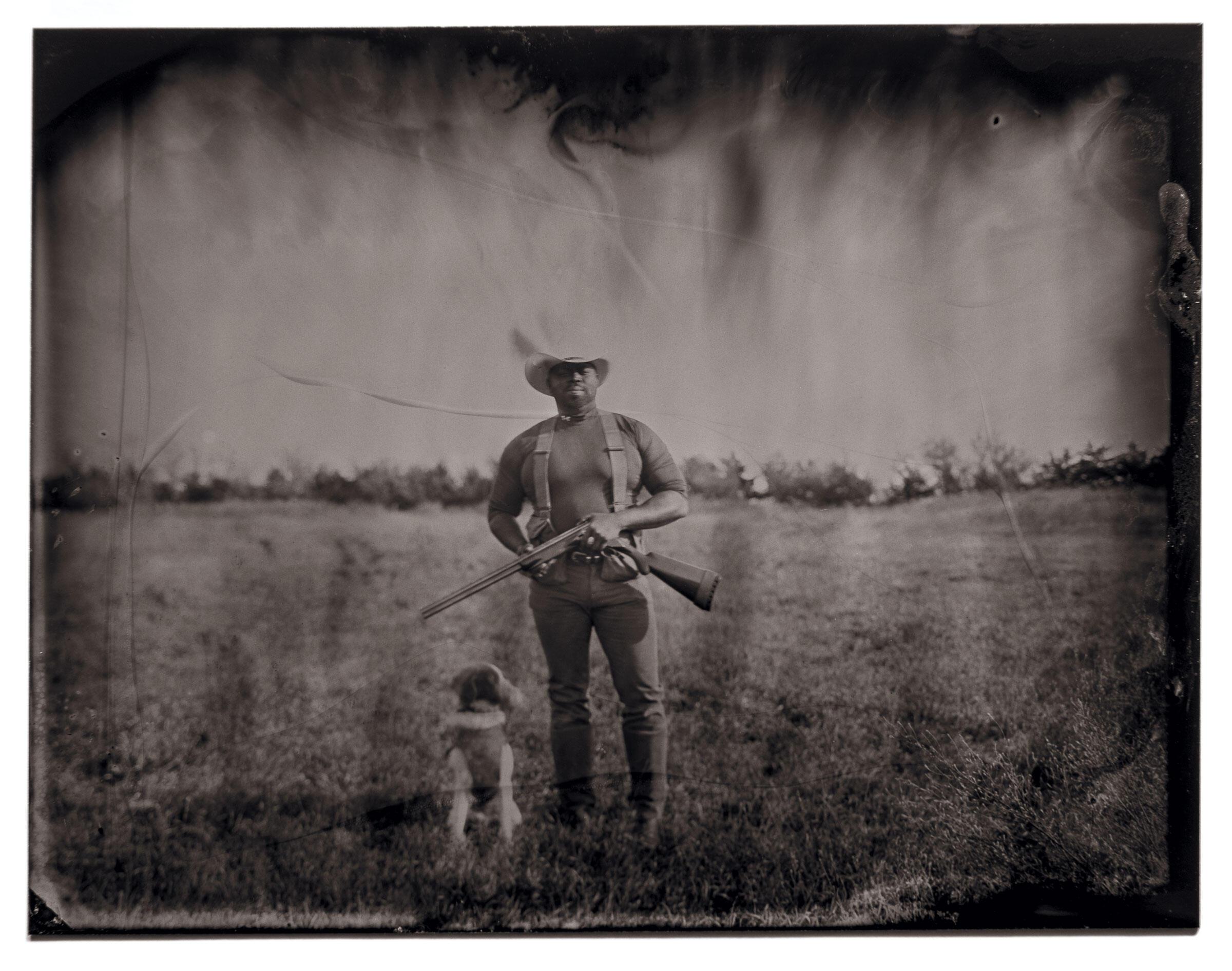 Audubon Dakota's Marshall Johnson and his bird dog, Ulysses S. Grant. Tom Fowlks