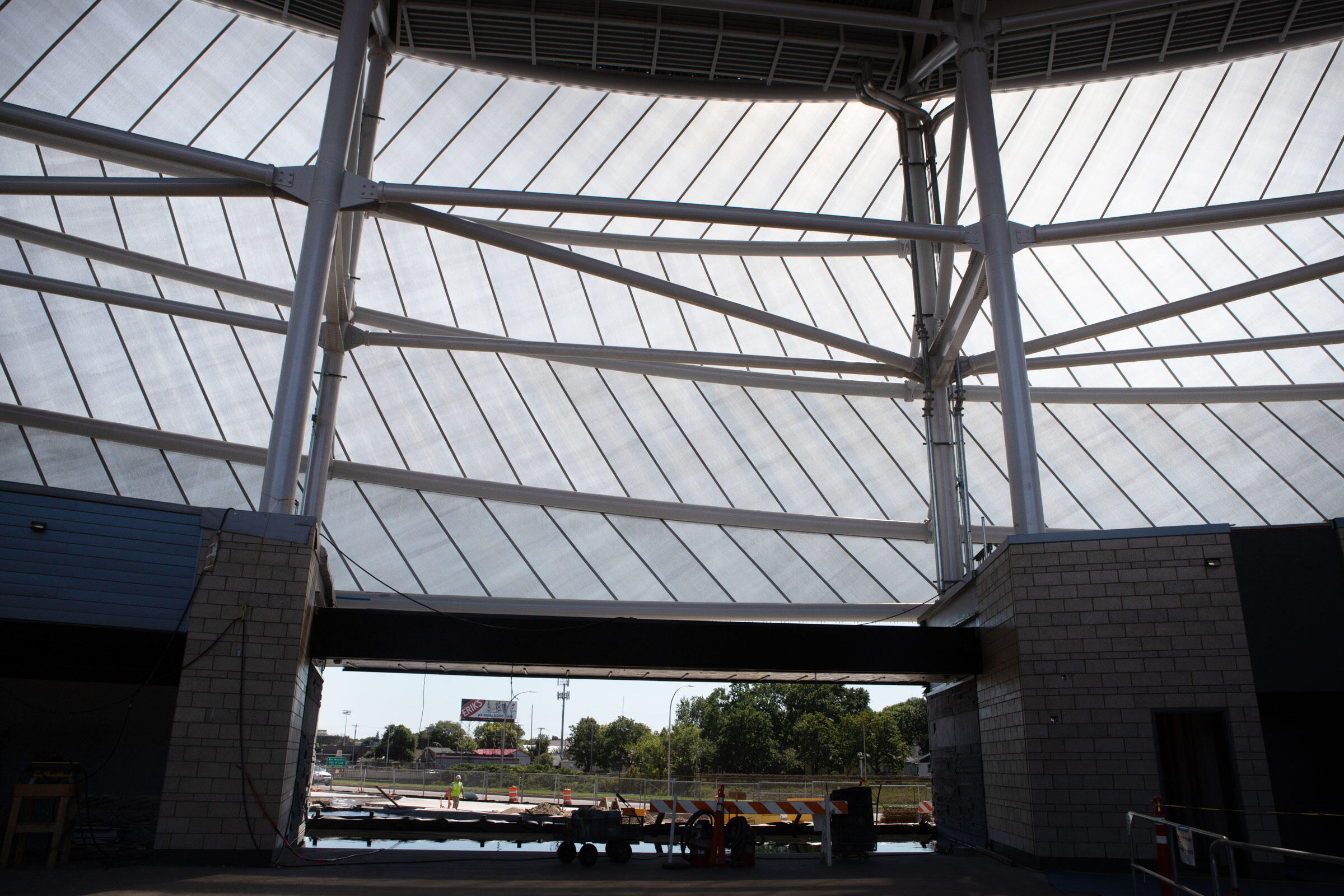 The exterior of Allianz Field is wrapped in polytetrafluoroethylene (PTFE), a versatile material with a wide variety of applications. Camilla Cerea/Audubon