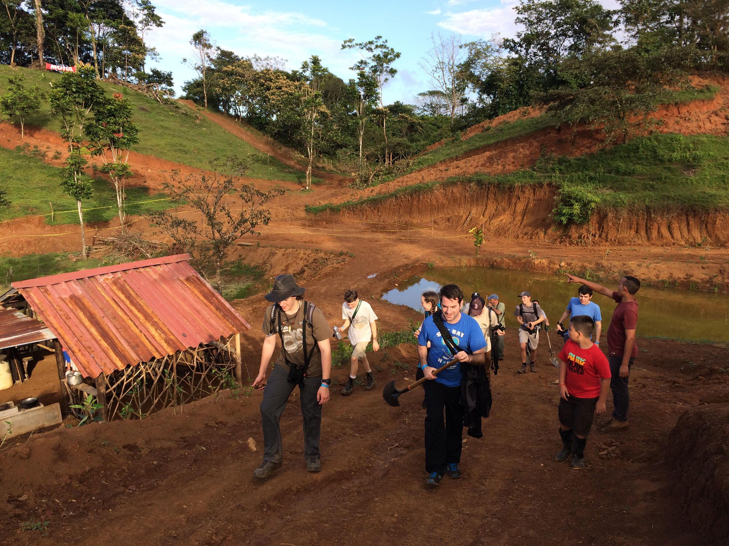 2016 Tropical Teen Camp Reforestation Project, Costa Rica. Hog Island Audubon Camp