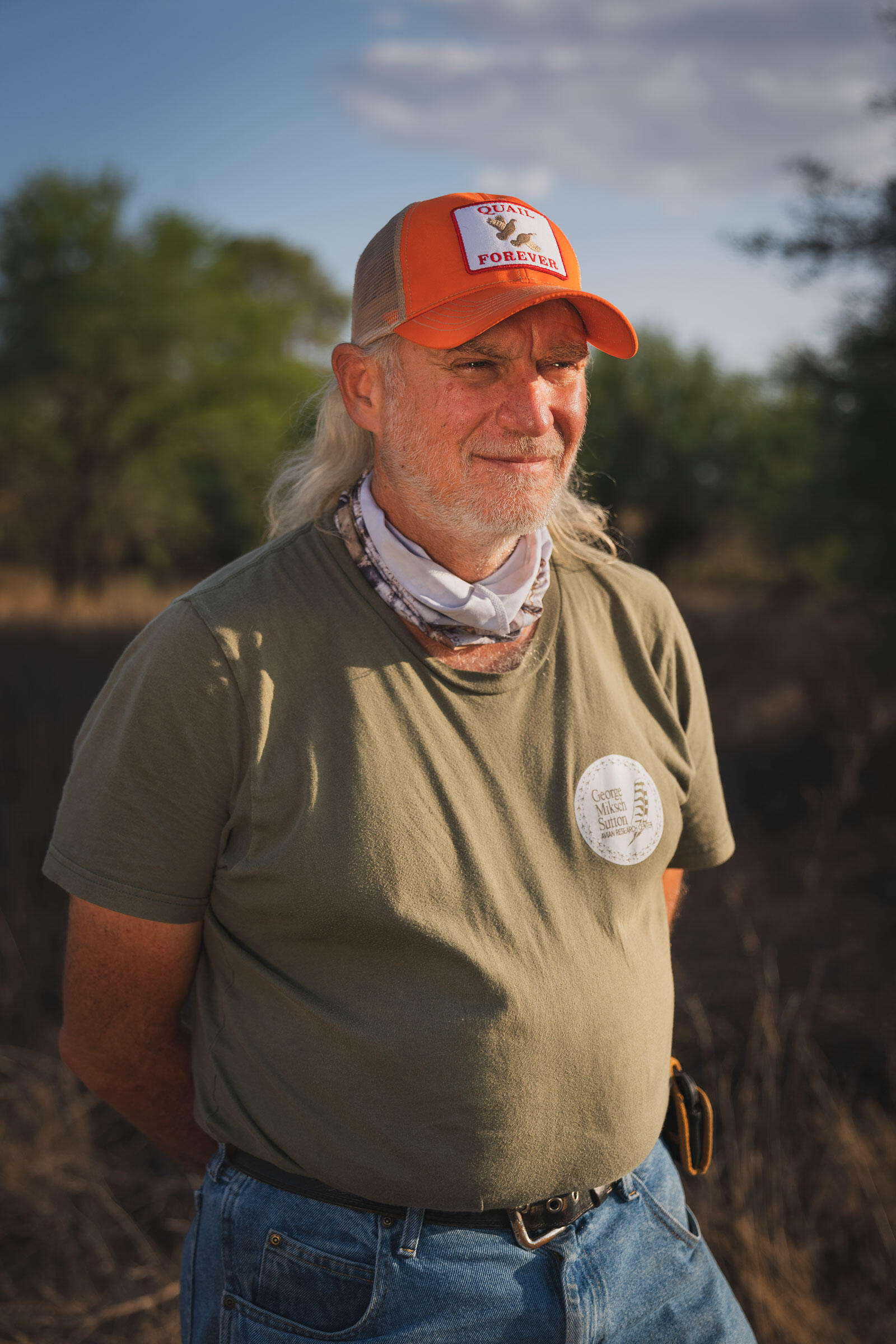 Don Wolfe, a recovery team member and senior biologist with the G.M Sutton Avian Research Center in Bartlesville, Oklahoma. Morgan Heim
