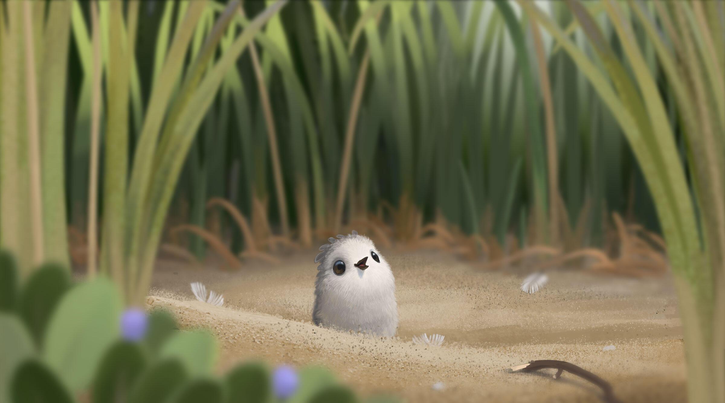 Piper in her natural animated habitat. Image: Disney•Pixar