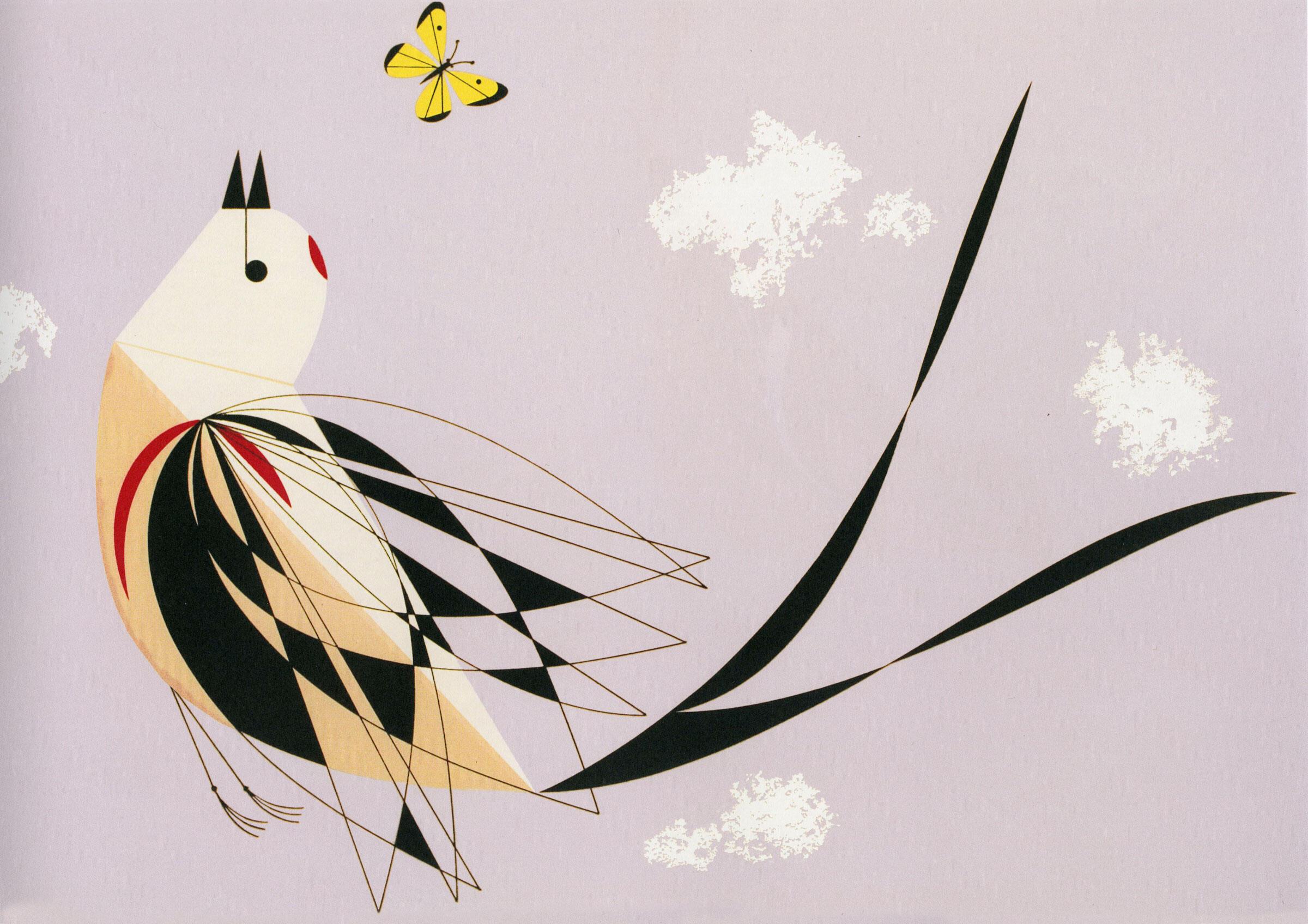 Scissor-tailed Flycatcher. lllustration: Charley Harper/AMMO