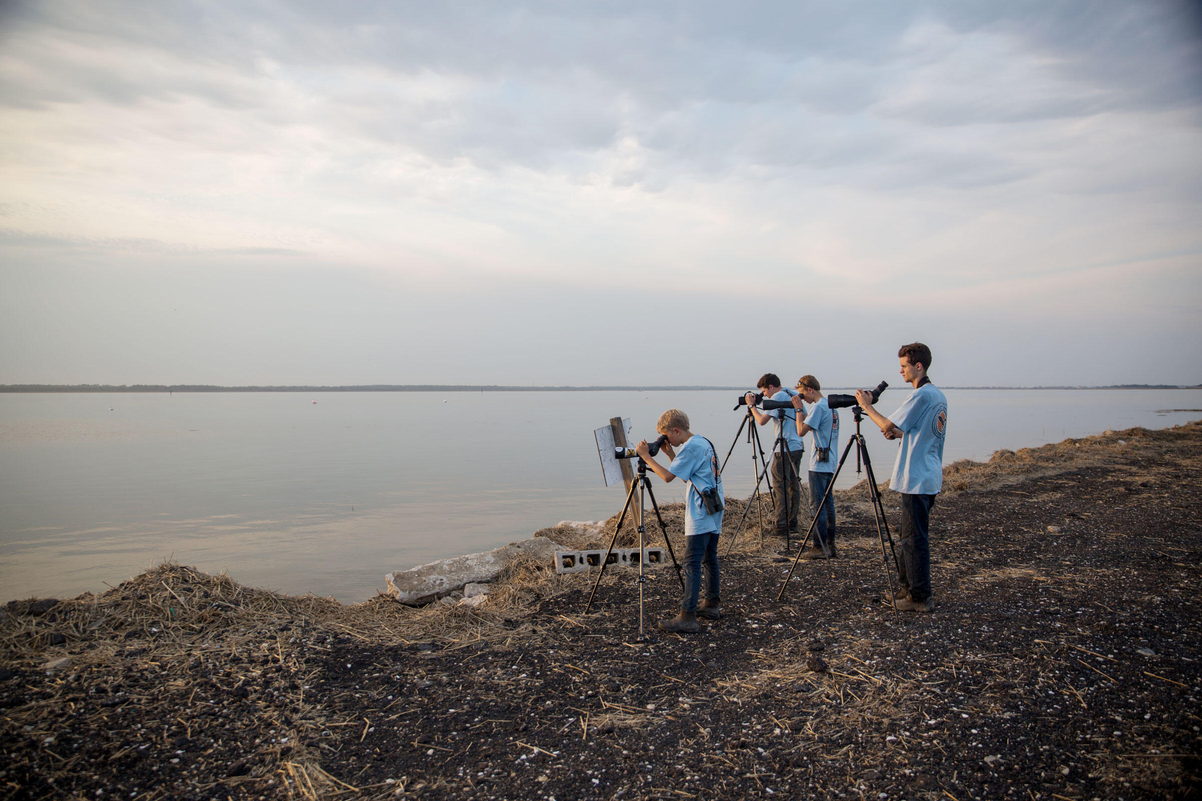 The Marsh Gigglers look for shorebirds over Cape May. Camilla Cerea/Audubon