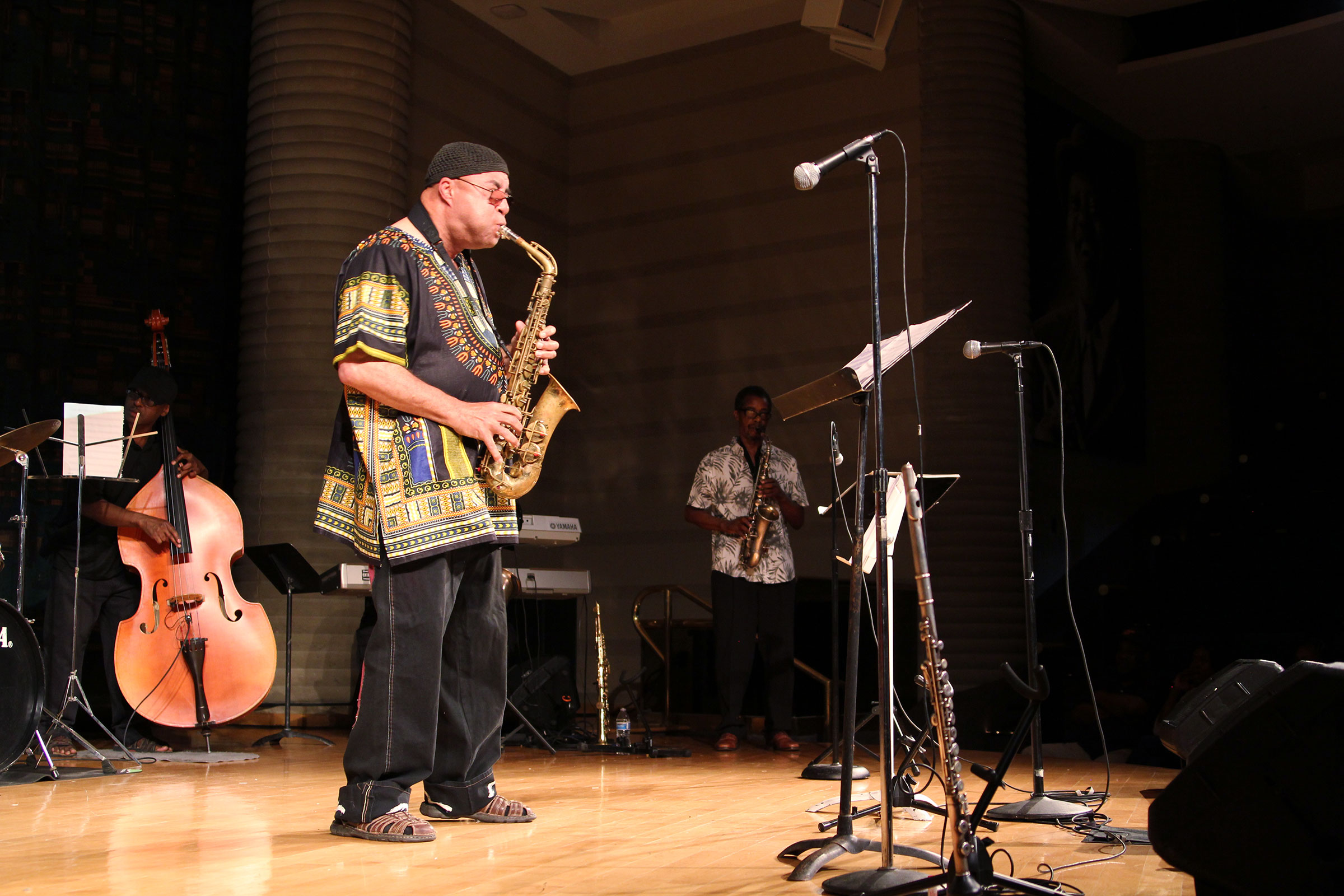 The Tony Holland Ensemble plays the music of Eric Dolphy at the Conference of the Birds at The Wright Museum of African American History. Eileen Solange Rodriguez/Audubon