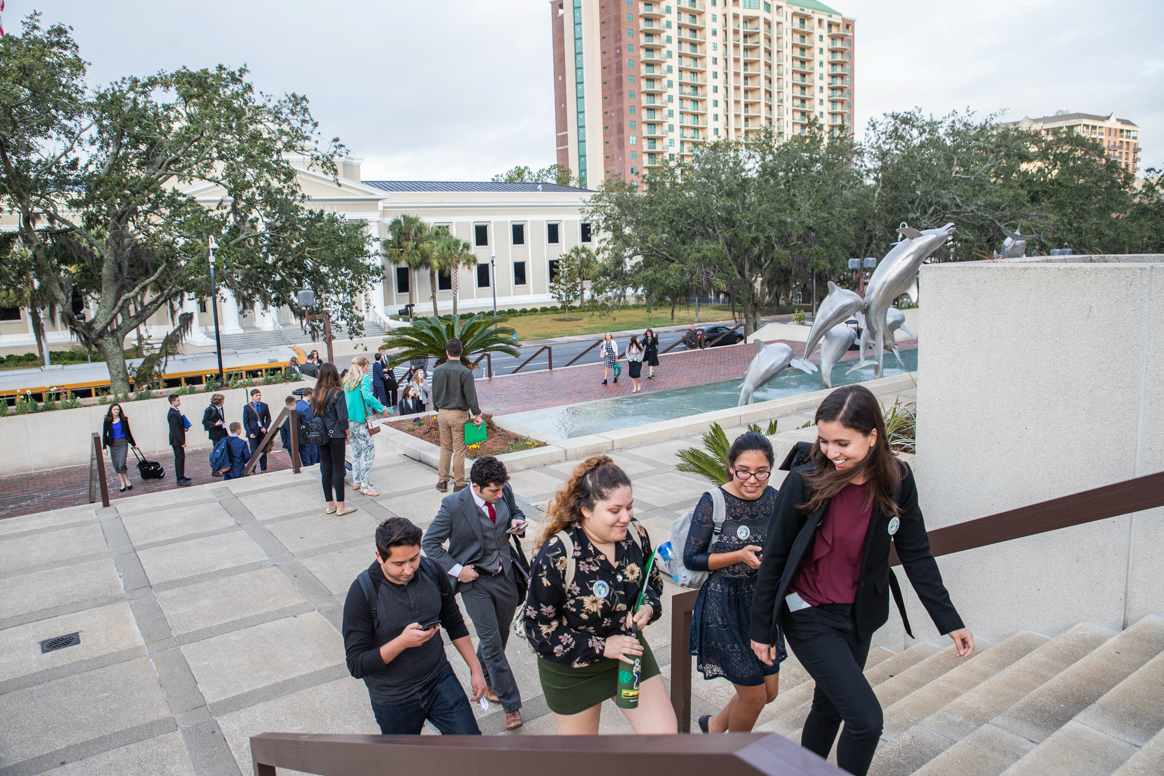A volunteer group from Audubon Florida arrives at the Florida Capitol building for Everglades Action Day in February 2020, prior to the pandemic, in Tallahassee, FL. Dominic Arenas/Audubon
